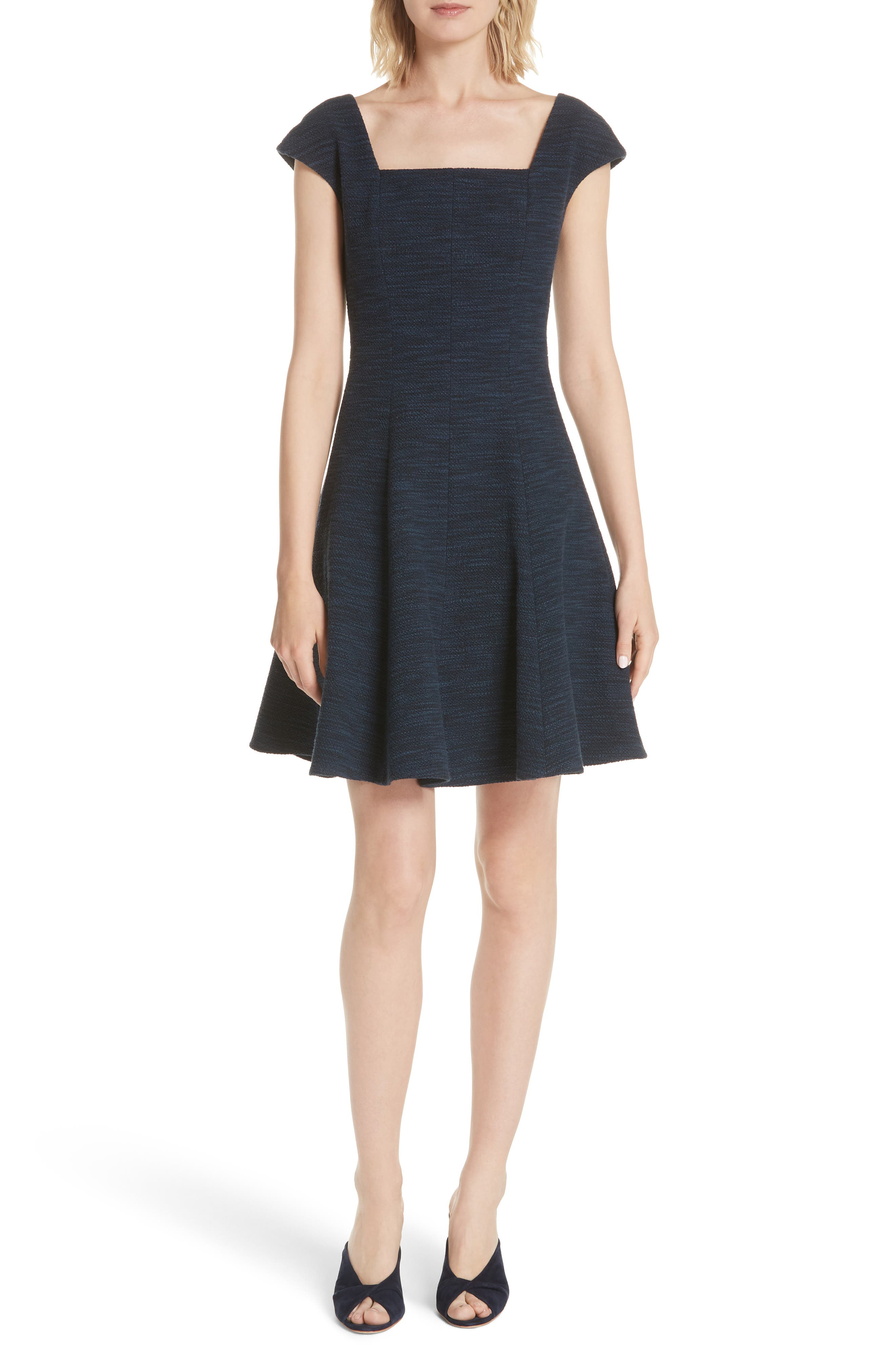 Tweed Fit & Flare Dress,                         Main,                         color, 482