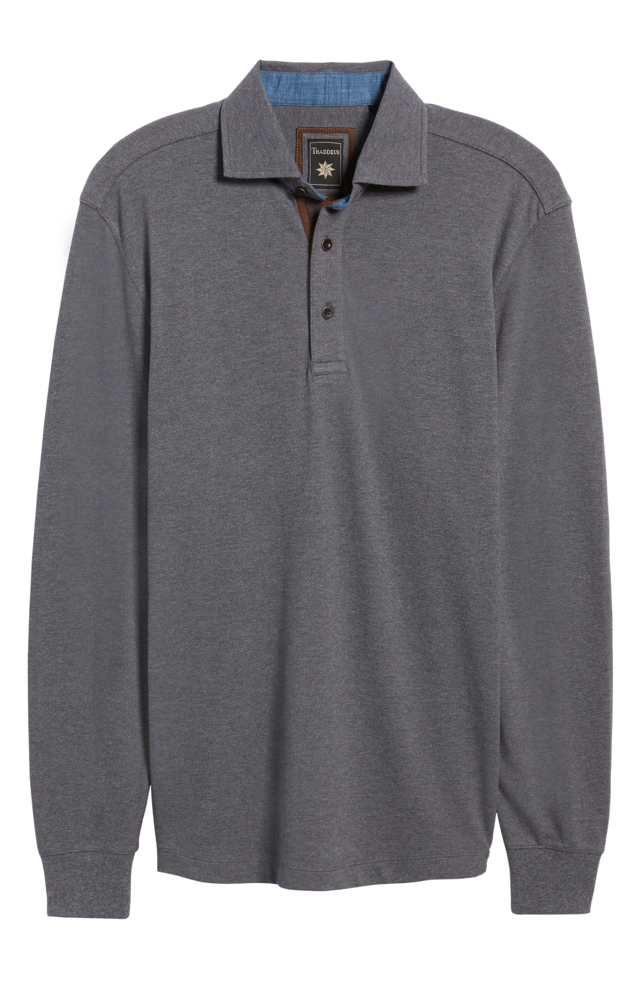 Perry Long Sleeve Polo,                             Alternate thumbnail 6, color,                             014