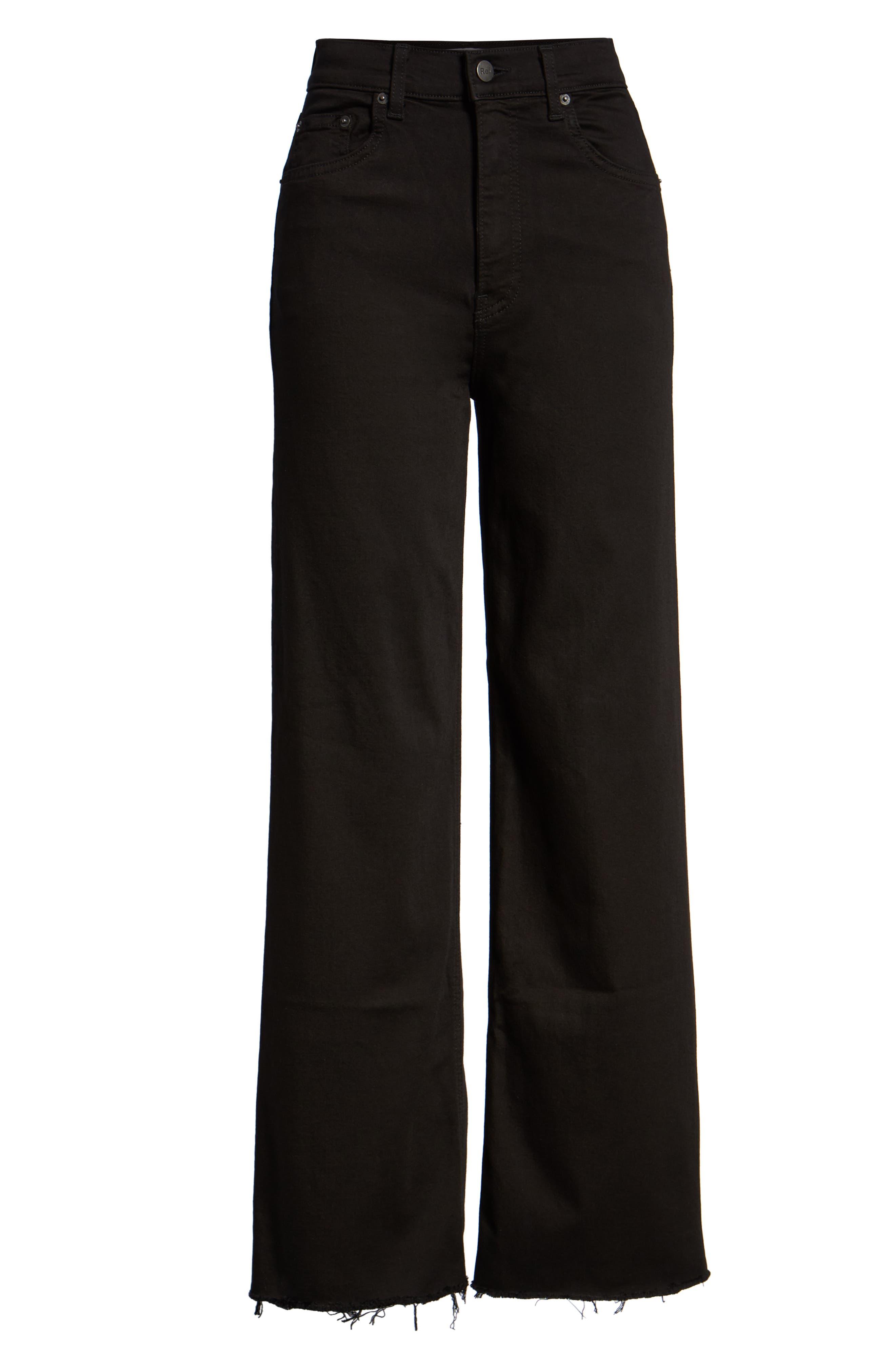 Stretch Crop Jeans,                             Alternate thumbnail 3, color,                             001