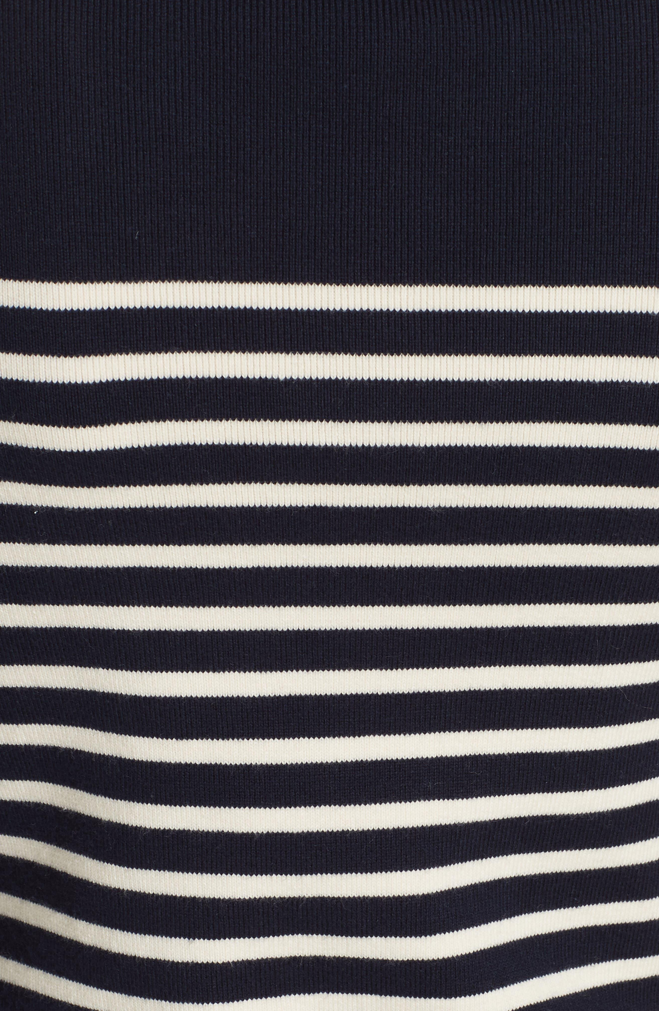 Classique Stripe Sweater,                             Alternate thumbnail 5, color,                             401