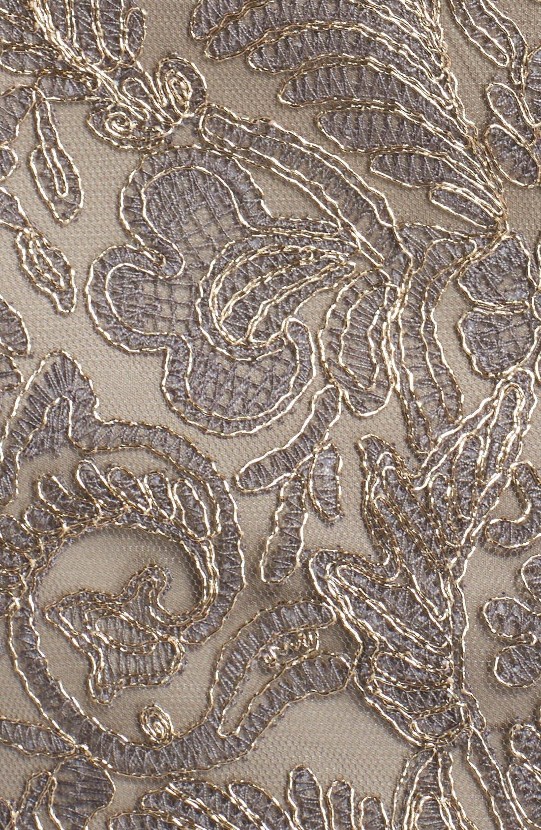 Illusion Yoke Lace Sheath Dress,                             Alternate thumbnail 66, color,