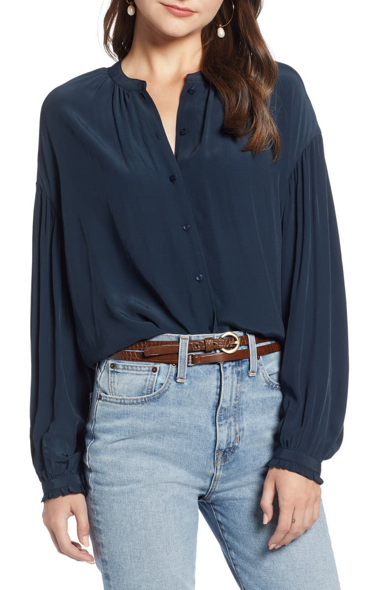 Something Navy Easy Volume Top (Nordstrom Exclusive) | Nordstrom