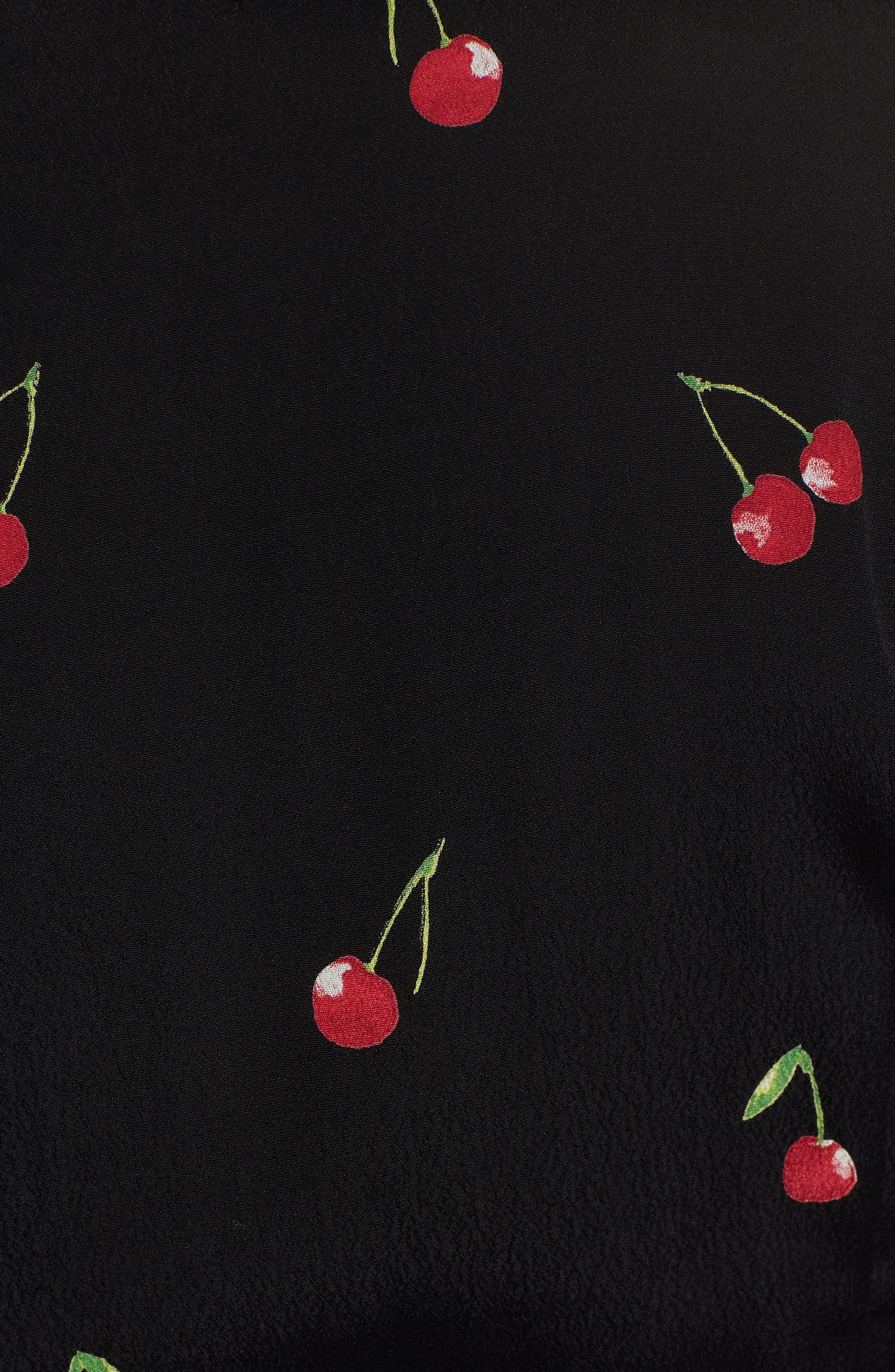 Lola Cherry Print Wrap Dress,                             Alternate thumbnail 6, color,                             CERISE