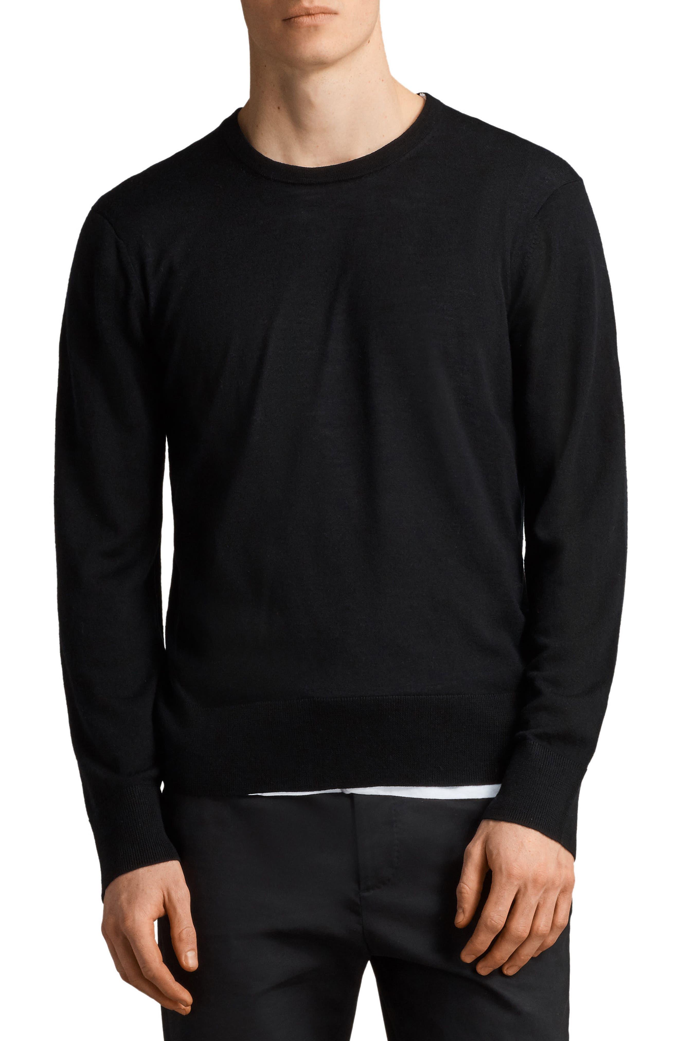 Lang Crewneck Wool Sweater,                         Main,                         color, 001
