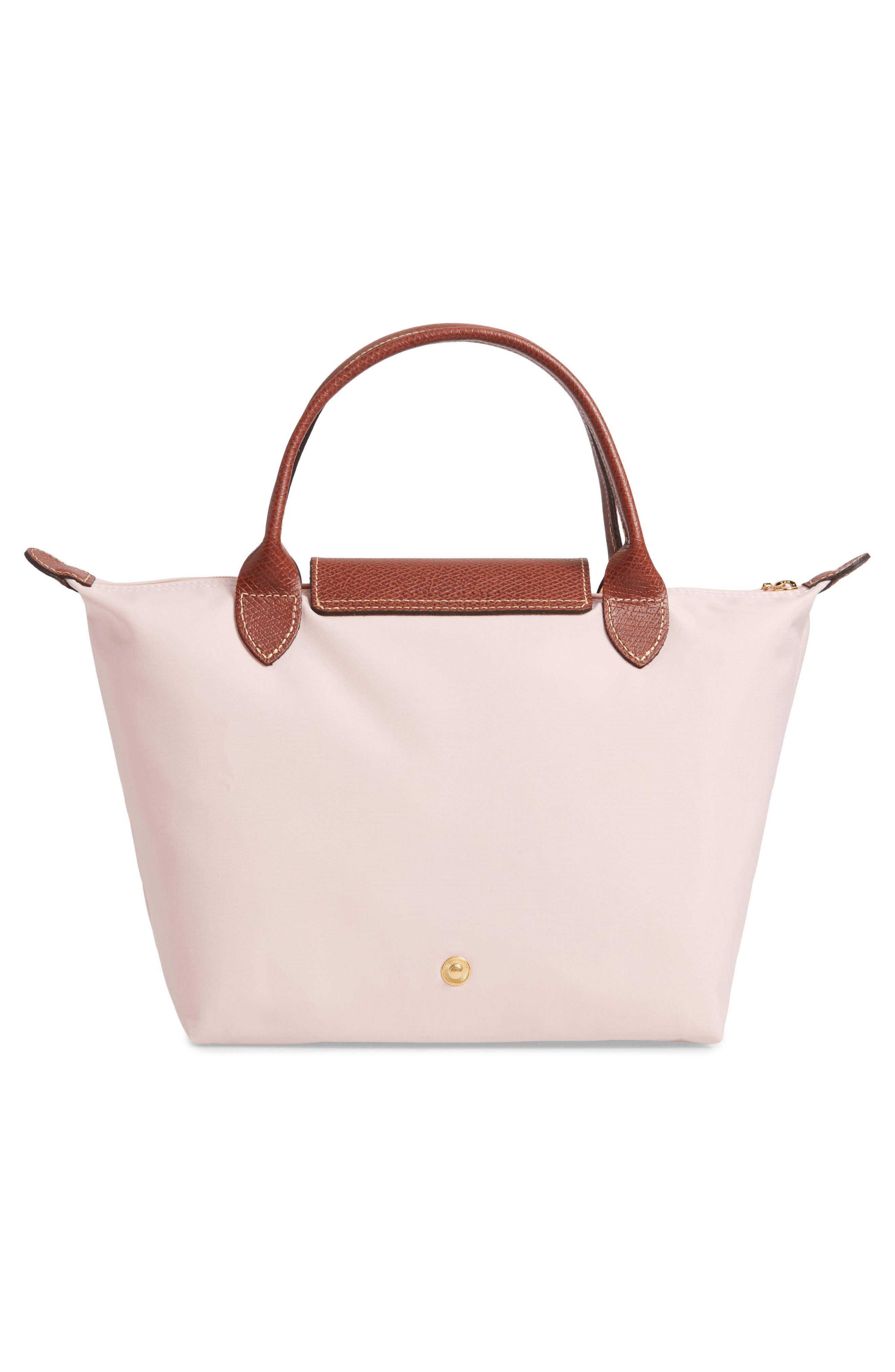 'Small Le Pliage' Top Handle Tote,                             Alternate thumbnail 3, color,                             PINK ICE