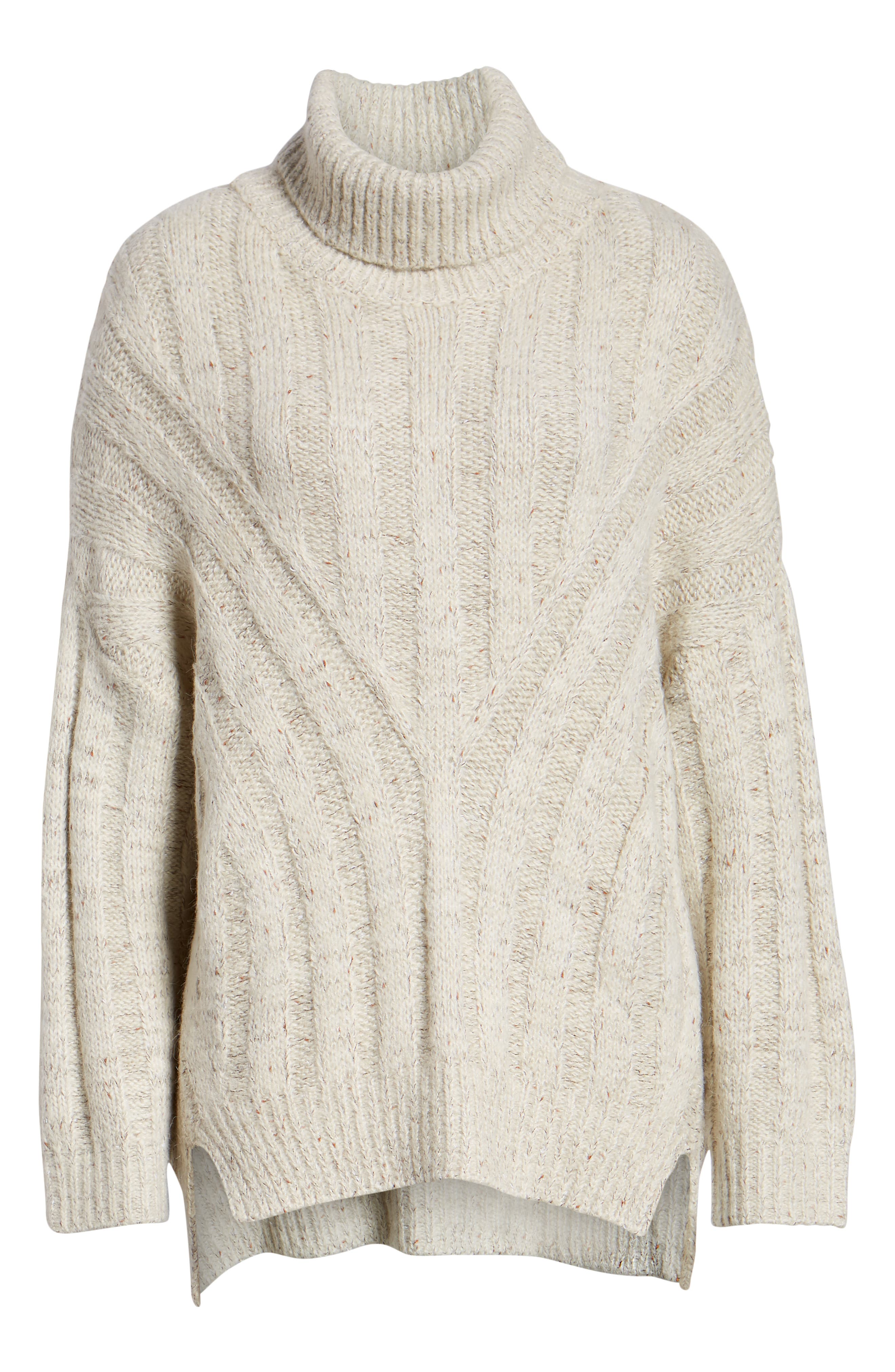 Oversized Turtleneck Sweater,                             Alternate thumbnail 6, color,                             250