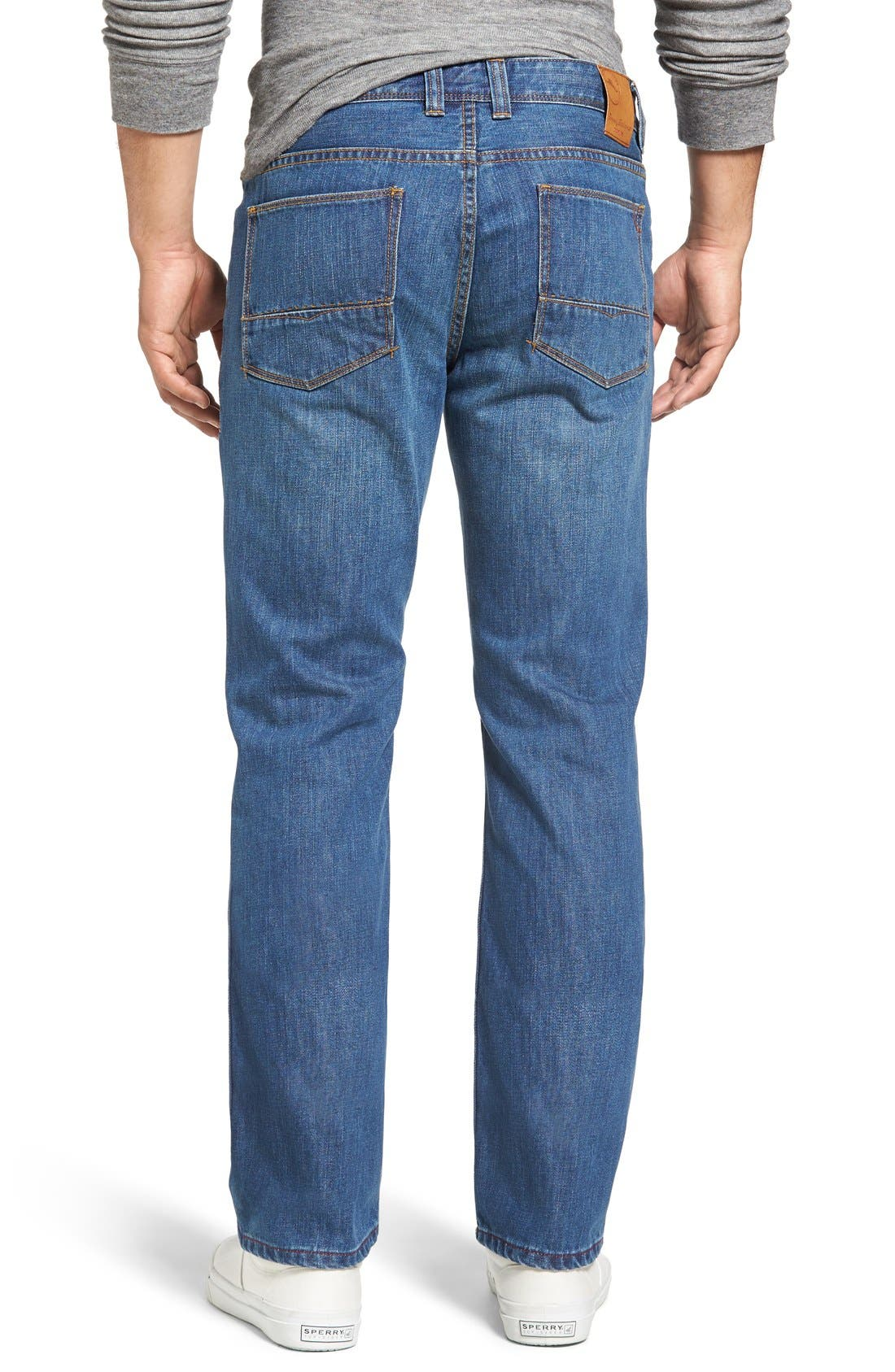 Santorini Straight Leg Jeans,                             Alternate thumbnail 2, color,                             401