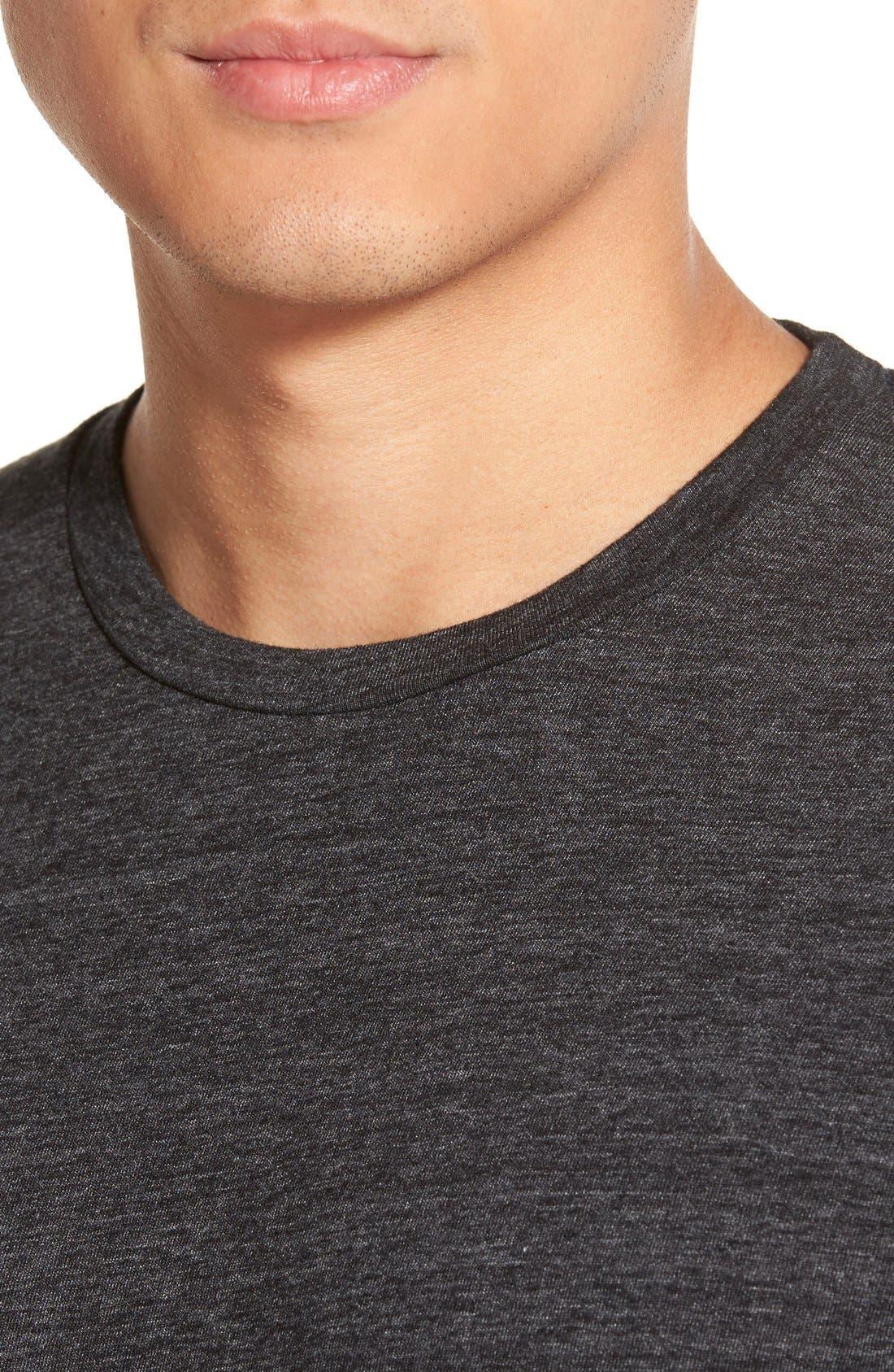 Scallop Triblend Crewneck T-Shirt,                             Alternate thumbnail 130, color,