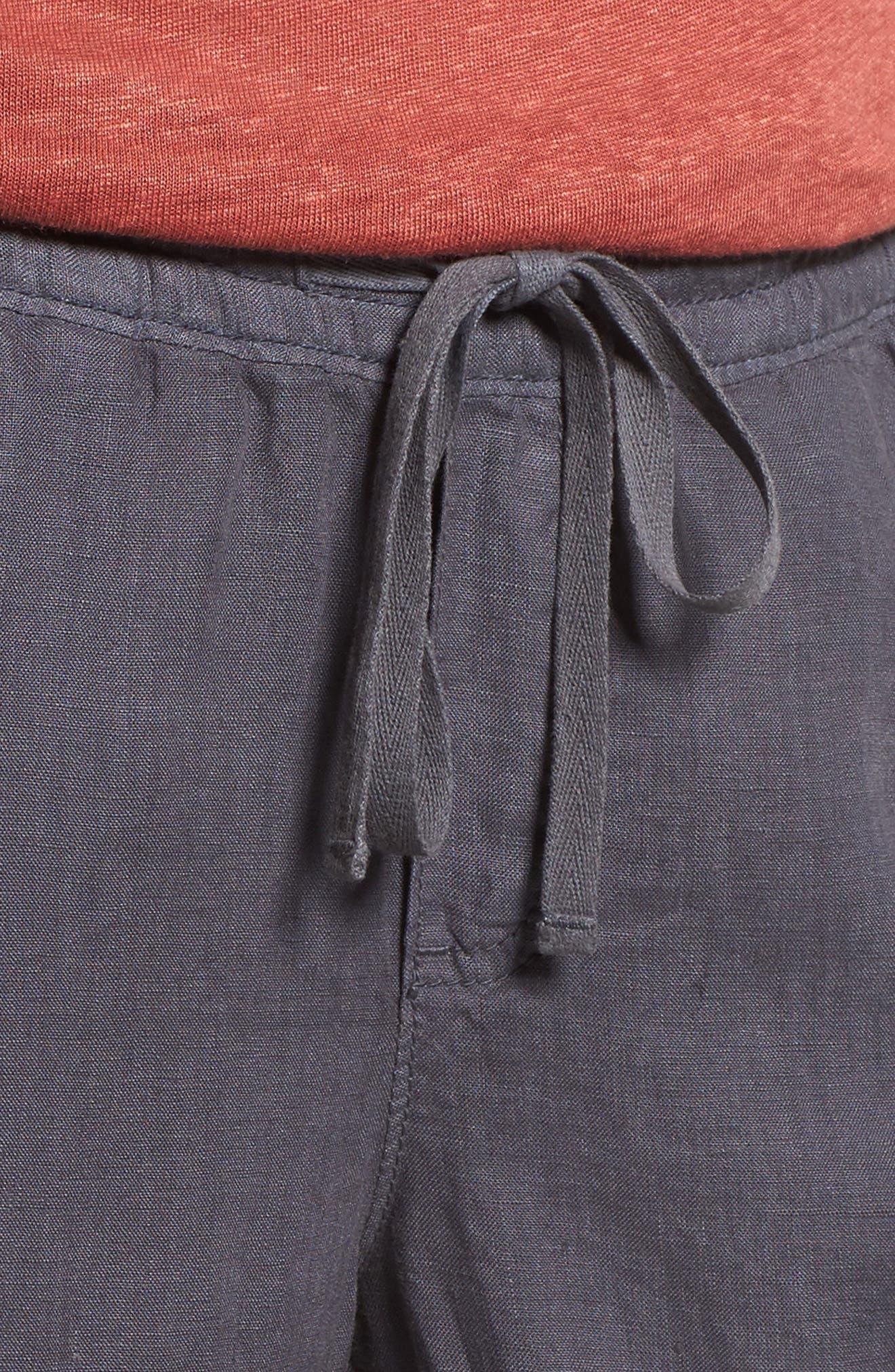 Linen Crop Pants,                             Alternate thumbnail 23, color,