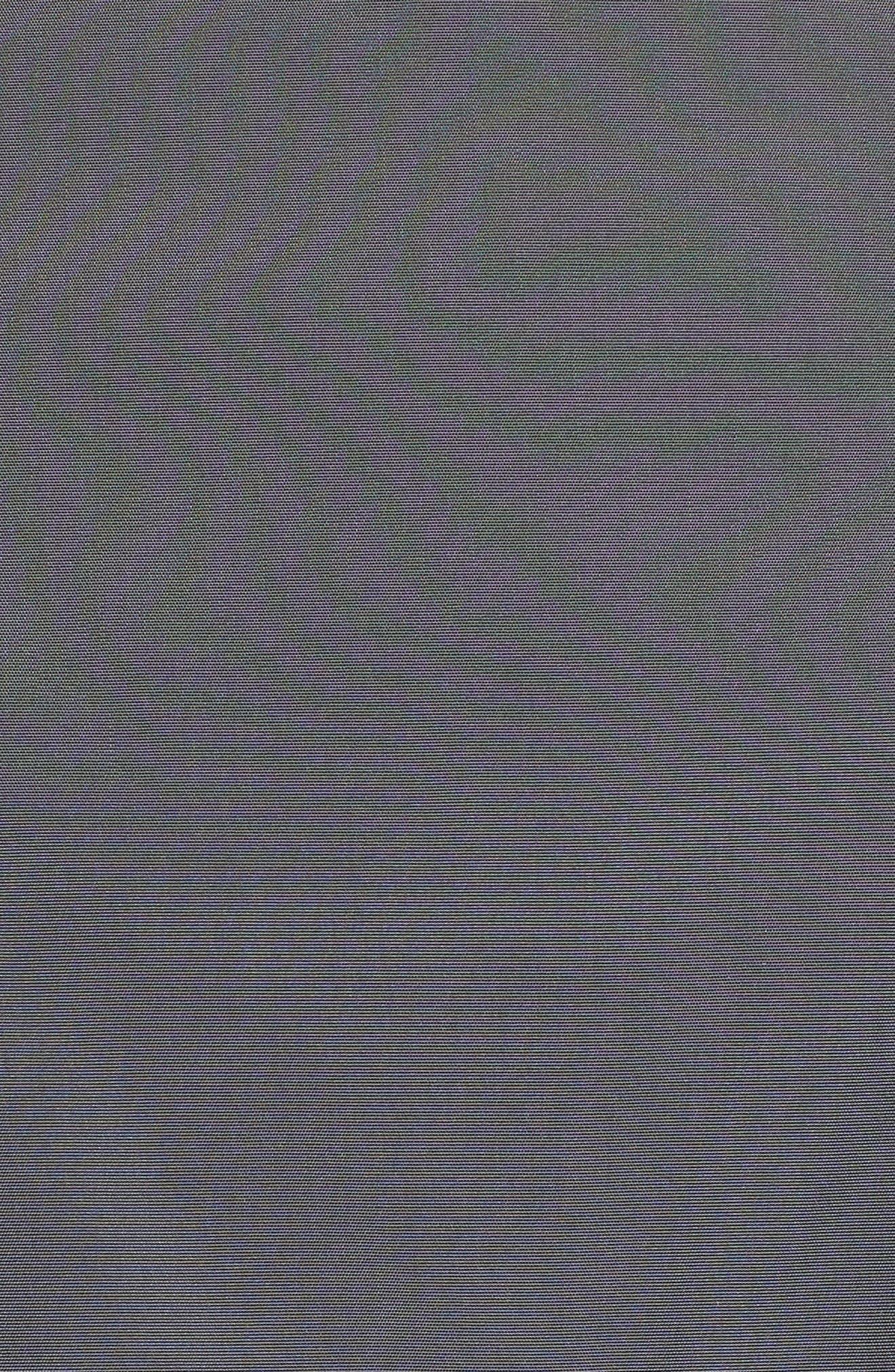 Back Bow Packable Hooded Raincoat,                             Alternate thumbnail 7, color,                             GUNMETAL