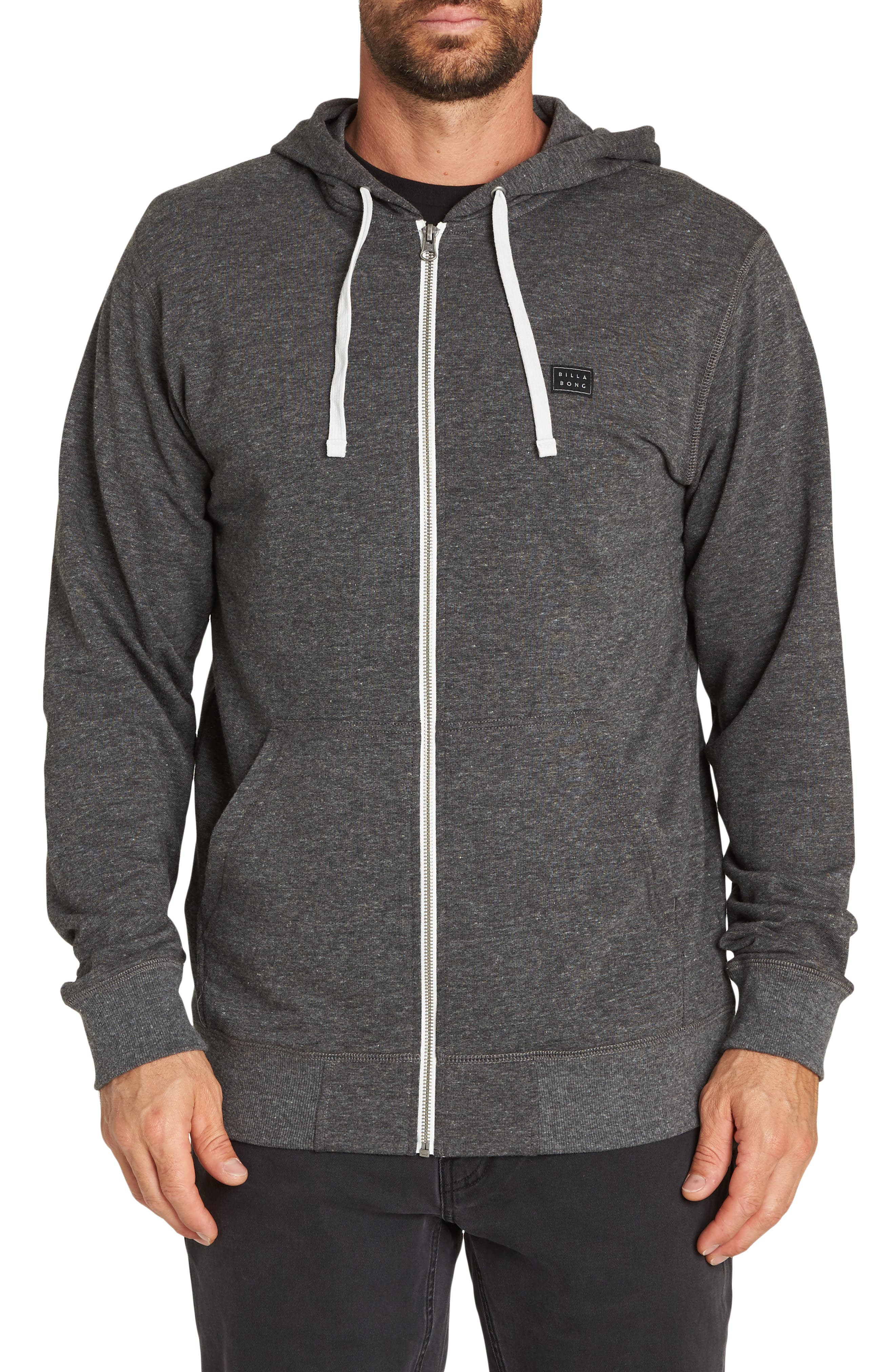 All Day Zip Hoodie,                             Main thumbnail 1, color,                             BLACK