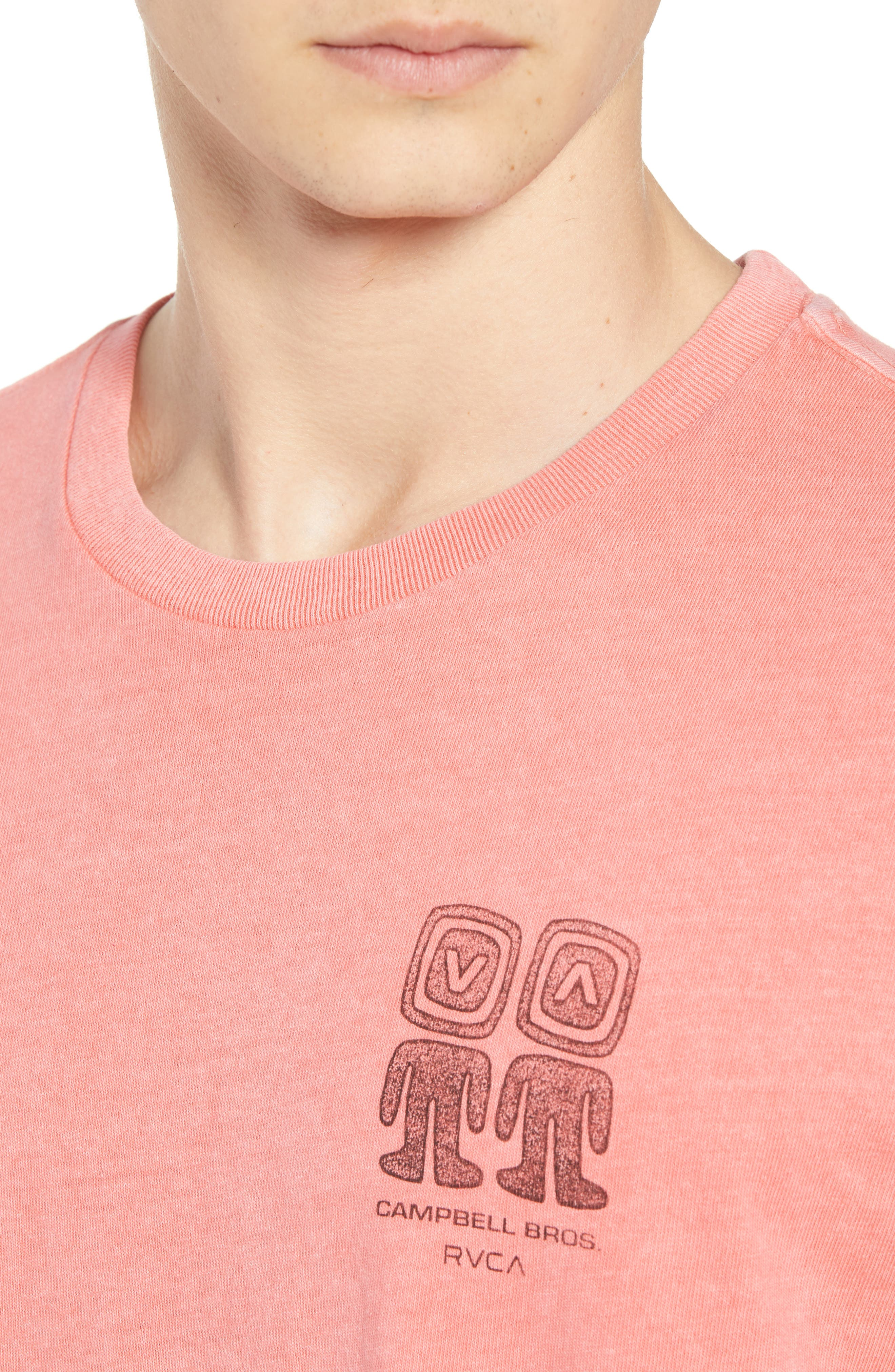 Campbell Brothers T-Shirt,                             Alternate thumbnail 4, color,                             PINK