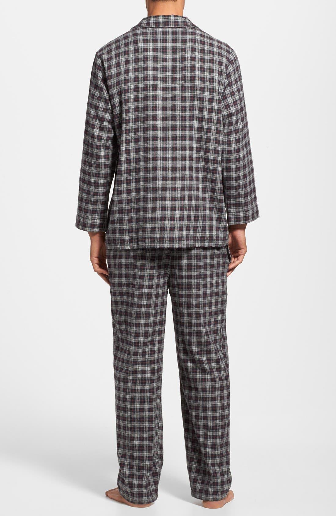 '824' Flannel Pajama Set,                             Alternate thumbnail 40, color,