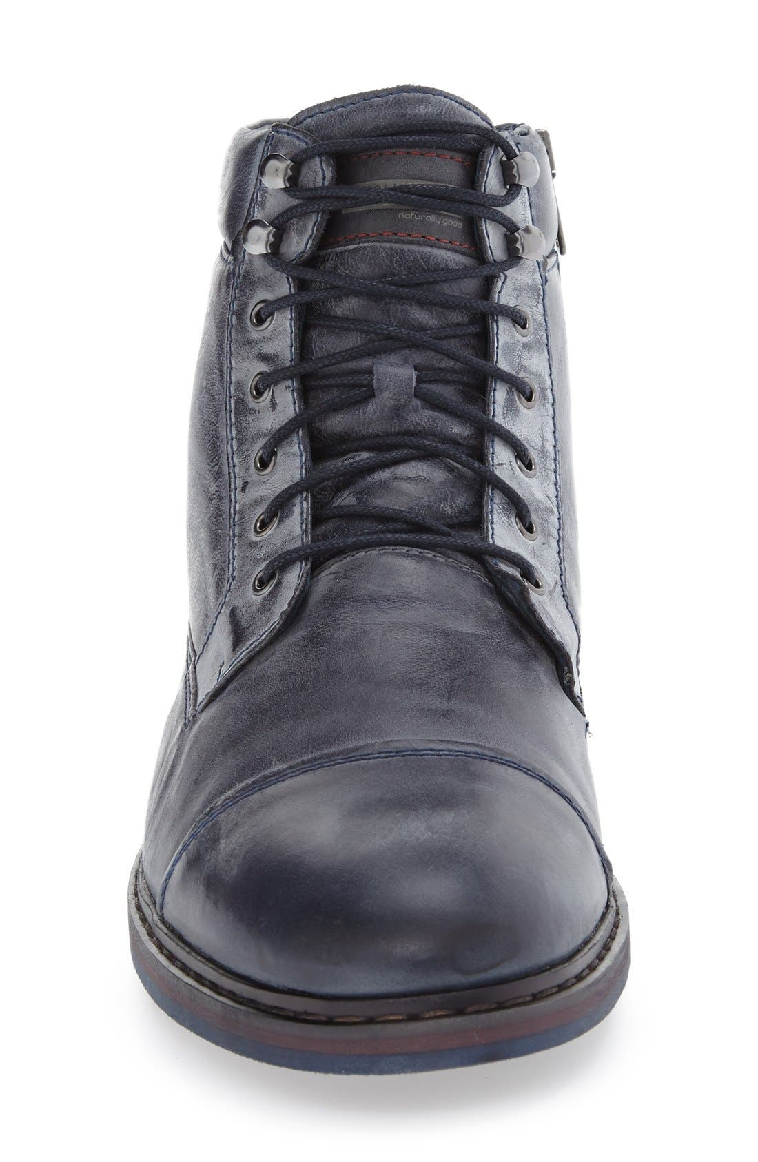 'Cacers' Lace-Up Zip Boot,                             Alternate thumbnail 9, color,