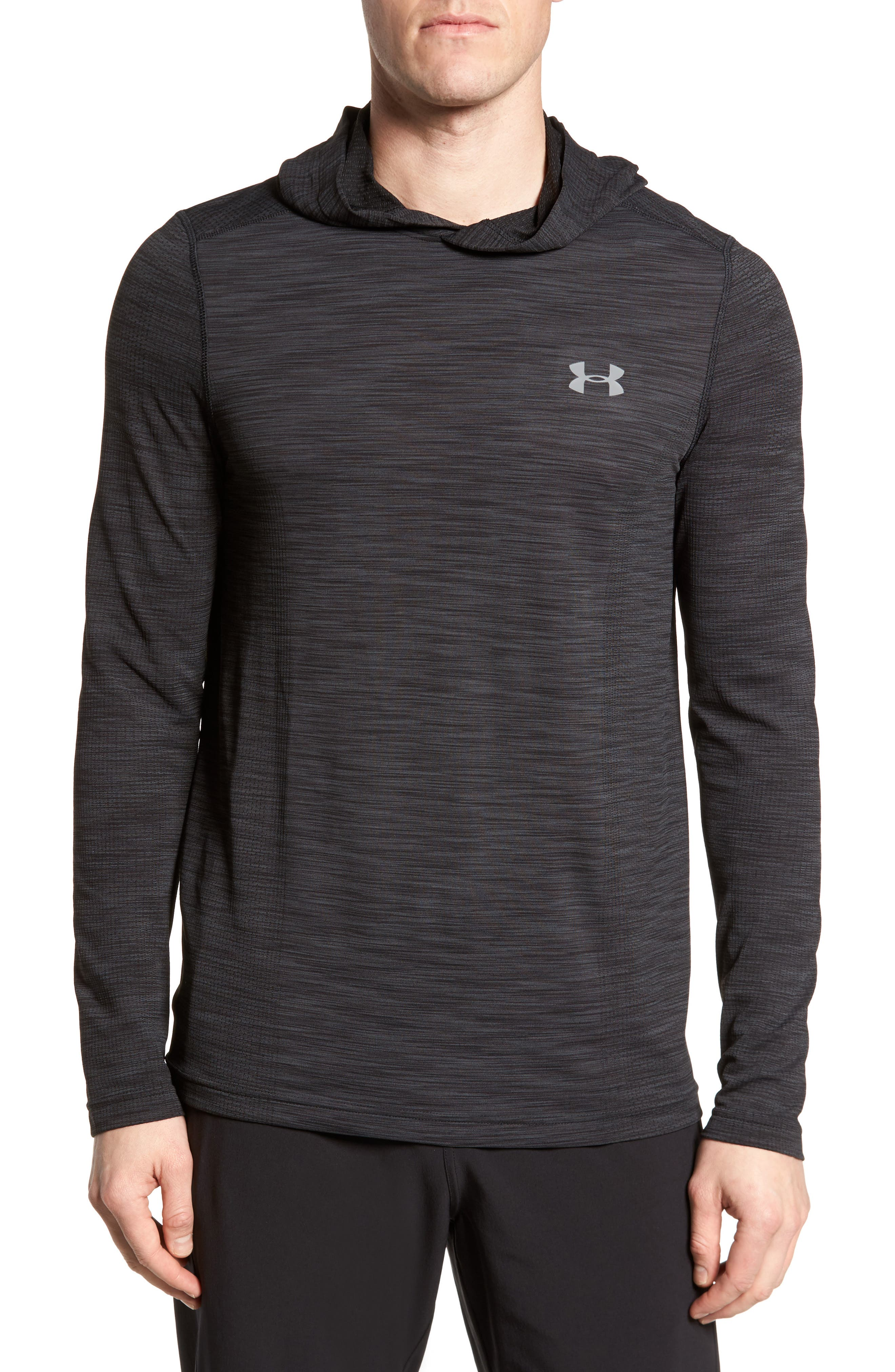 Threadbone Fitted Seamless Hoodie,                         Main,                         color, 001