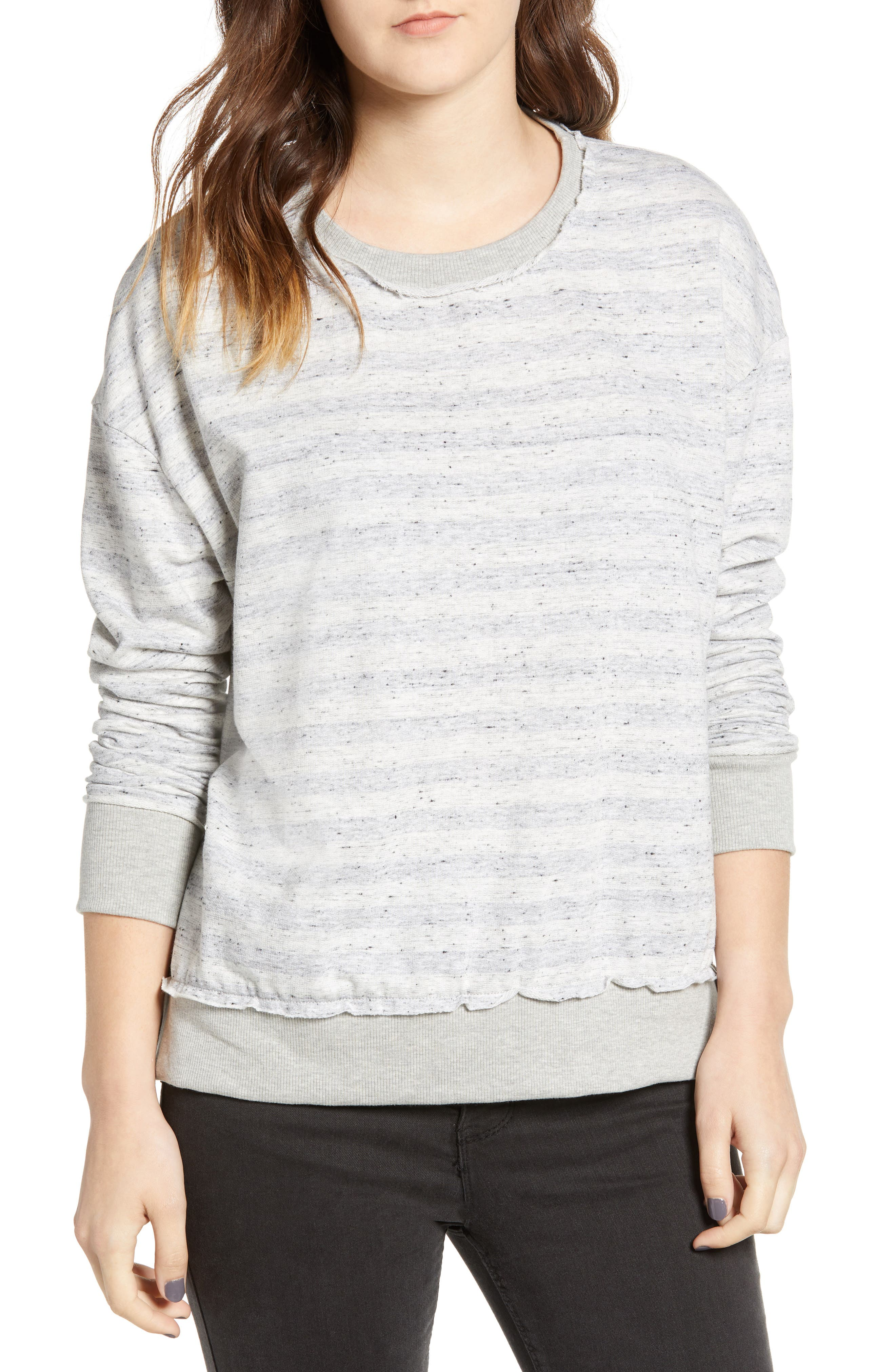 Stripe Inside Out Pullover,                             Main thumbnail 1, color,                             020