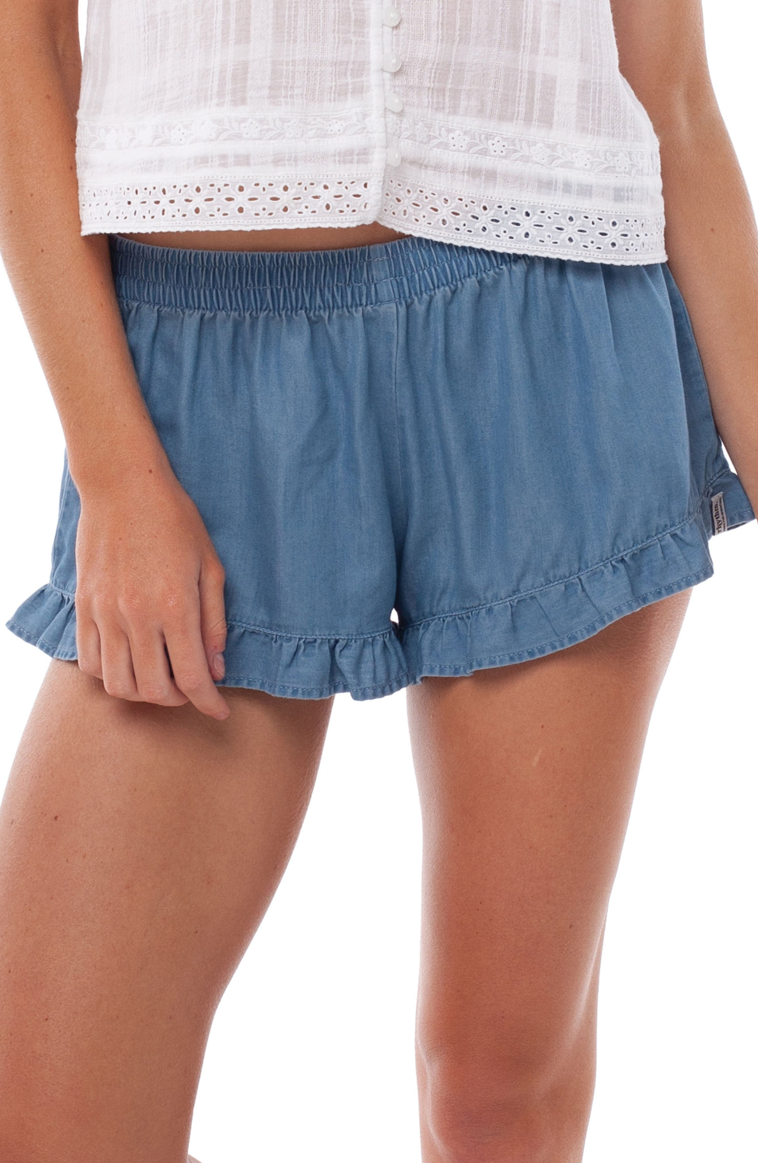 Wanderer Cover-Up Shorts,                             Main thumbnail 1, color,                             420