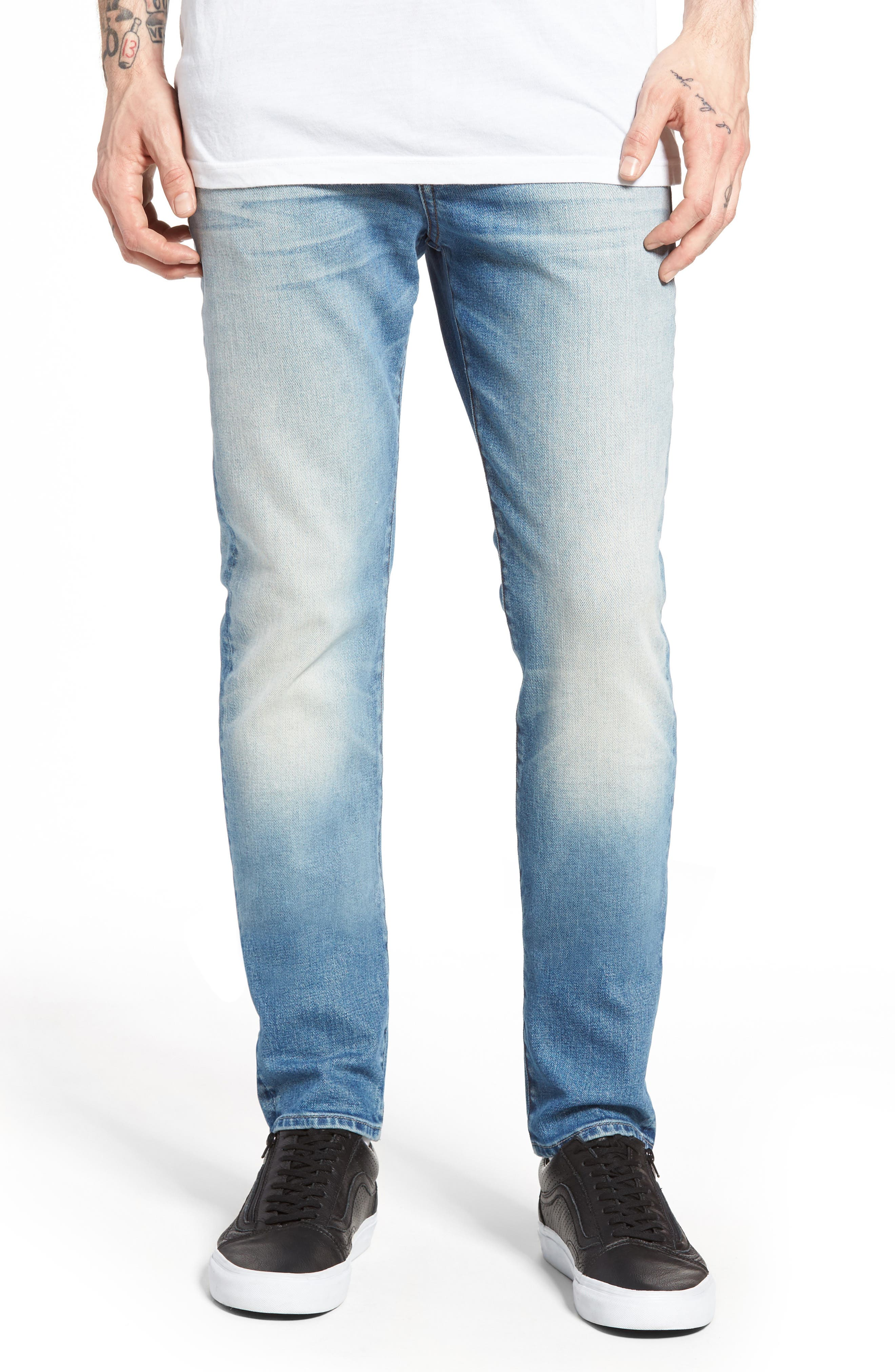 UB301 Straight Leg Raw Selvedge Jeans,                             Main thumbnail 1, color,                             INDIGO