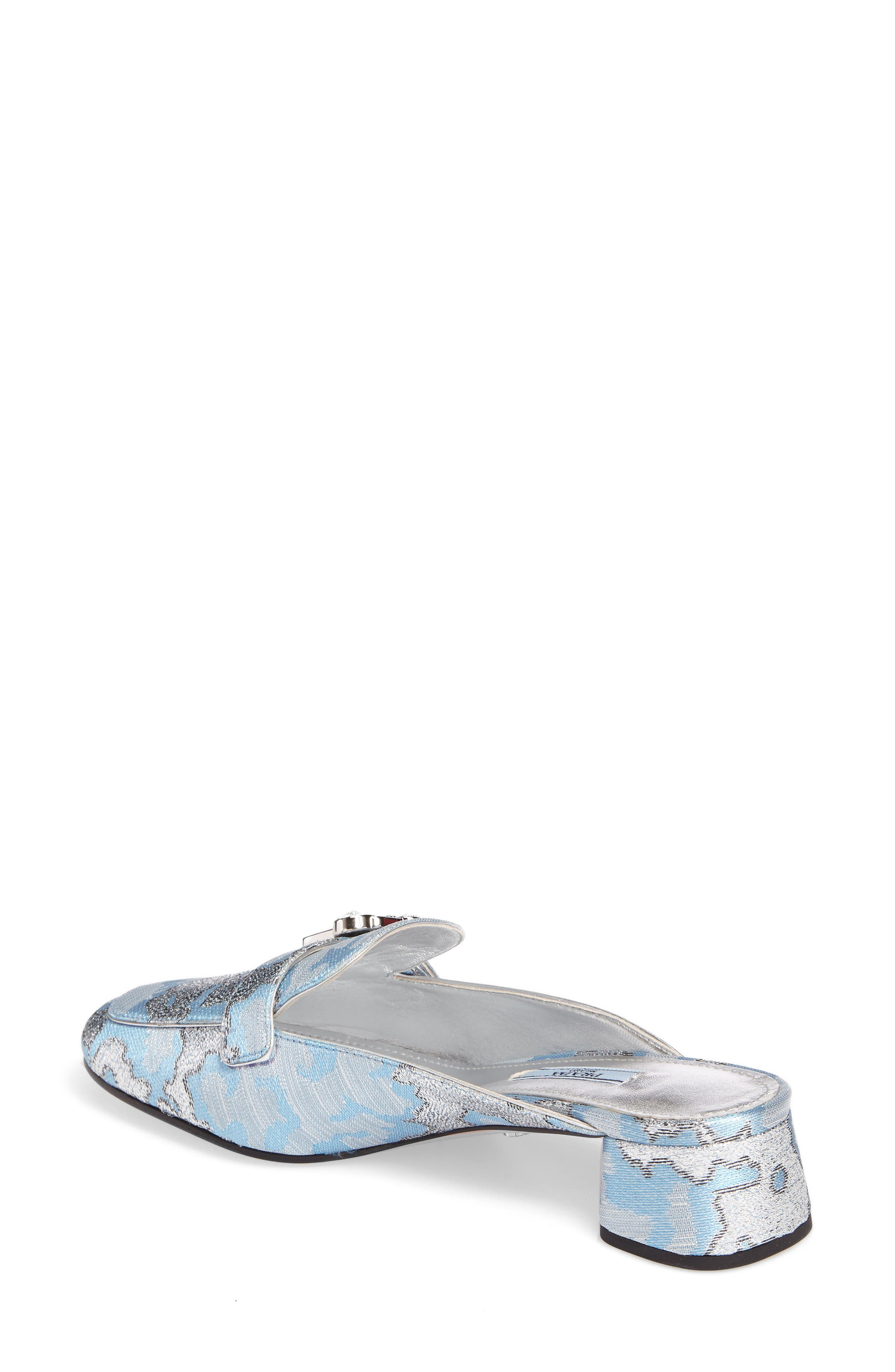 Crystal Buckle Loafer Mule,                             Alternate thumbnail 2, color,
