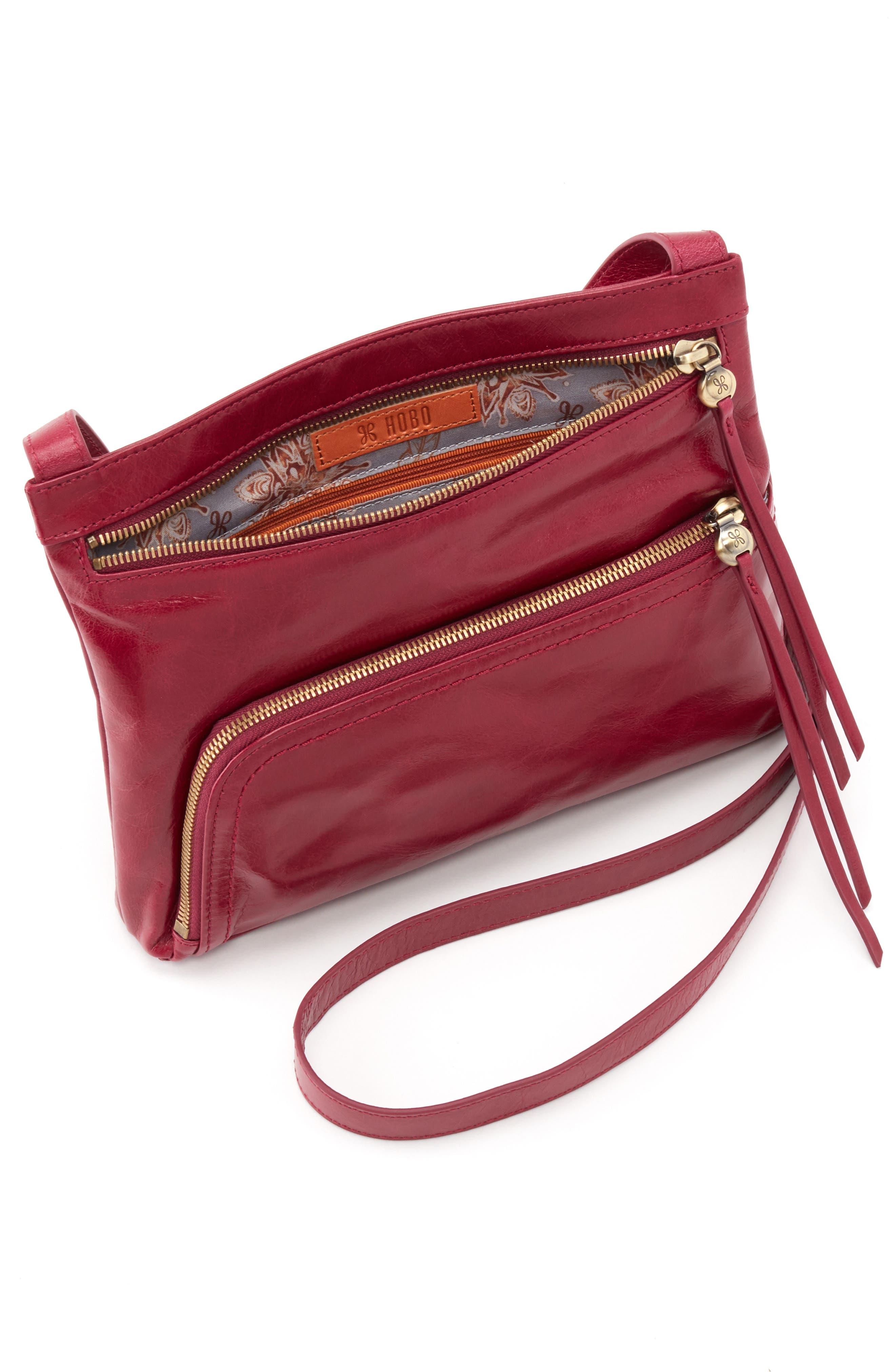 Cassie Crossbody Bag,                             Alternate thumbnail 3, color,                             RUBY
