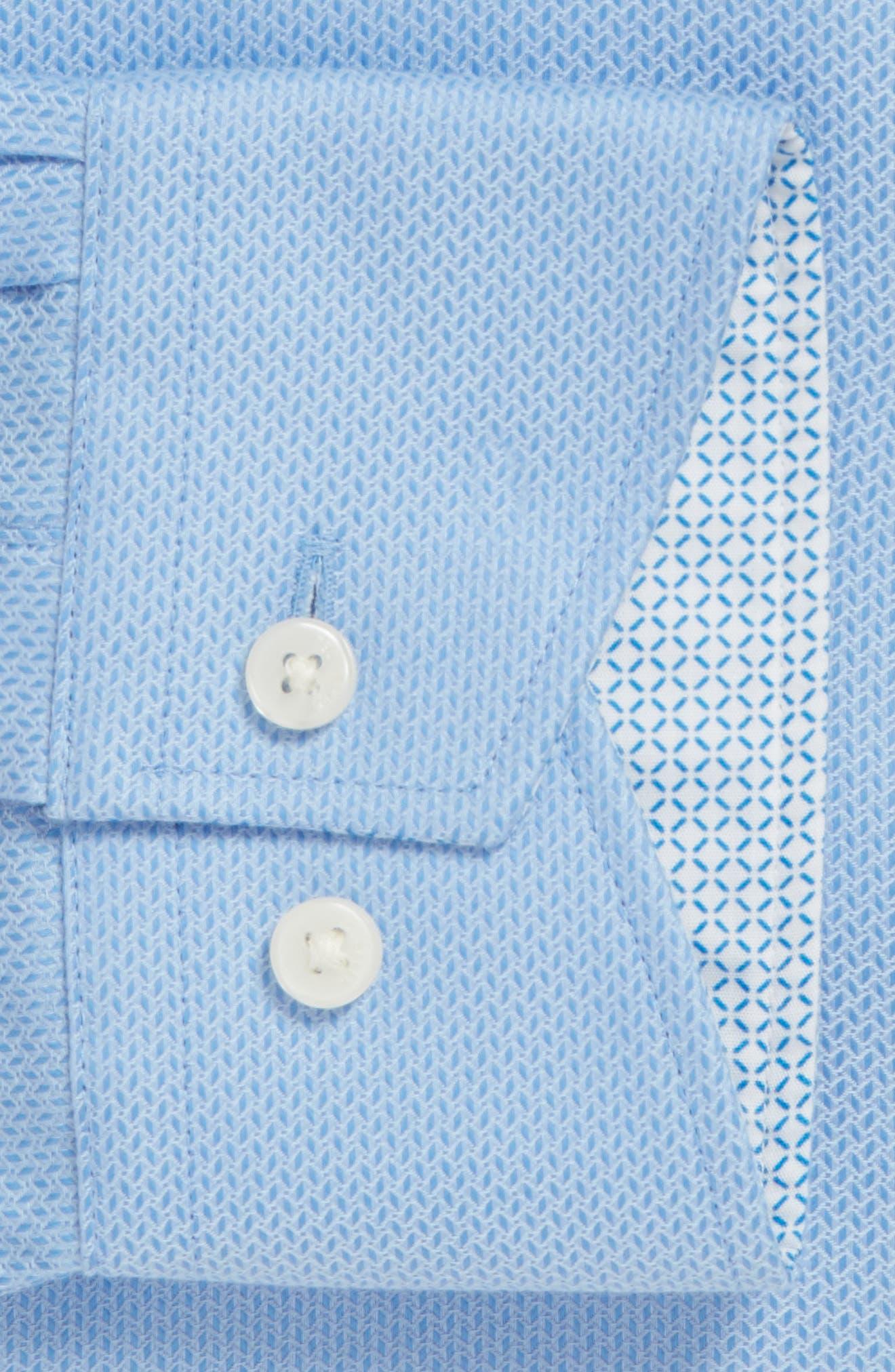 Endurance Trim Fit Geometric Dress Shirt,                             Alternate thumbnail 7, color,