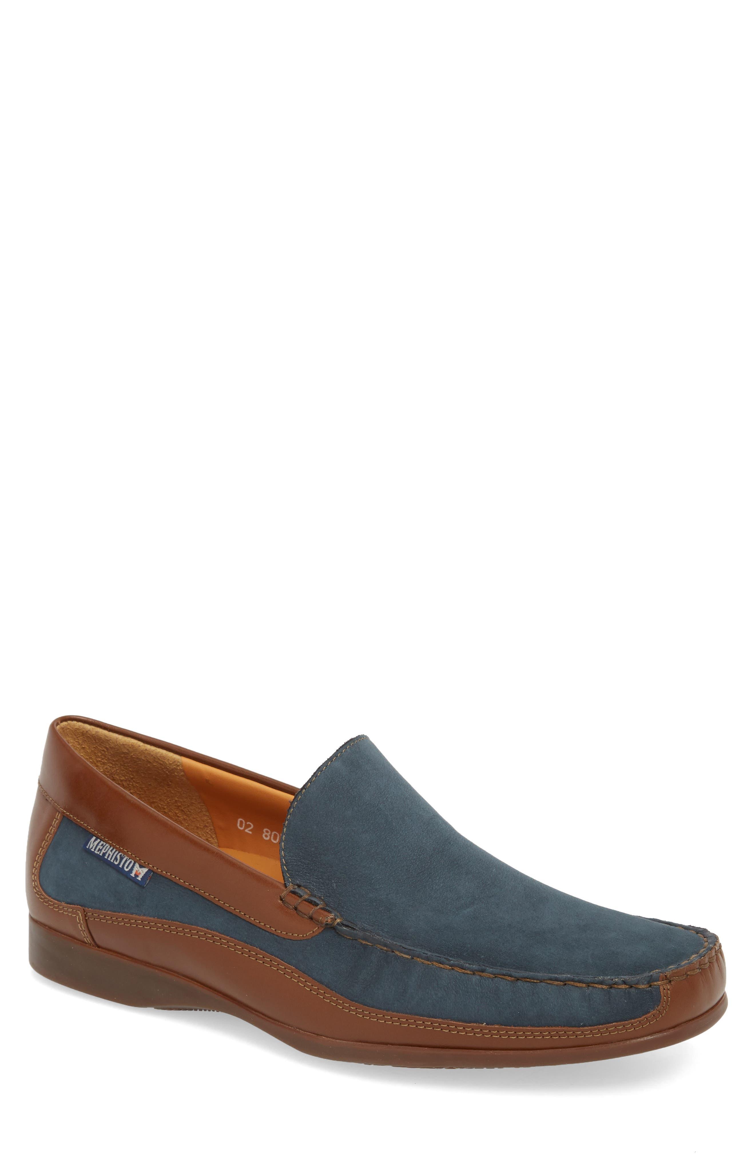 'Baduard' Loafer,                         Main,                         color, NAVY/ HAZELNUT