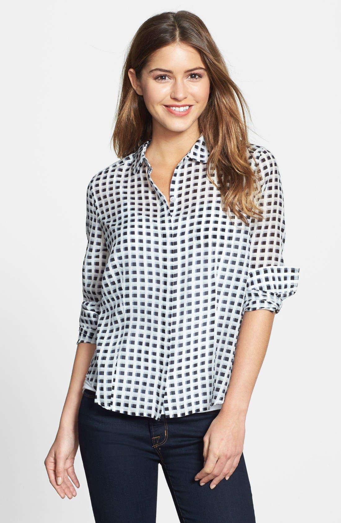 Cotton & Silk Shirt,                             Main thumbnail 12, color,