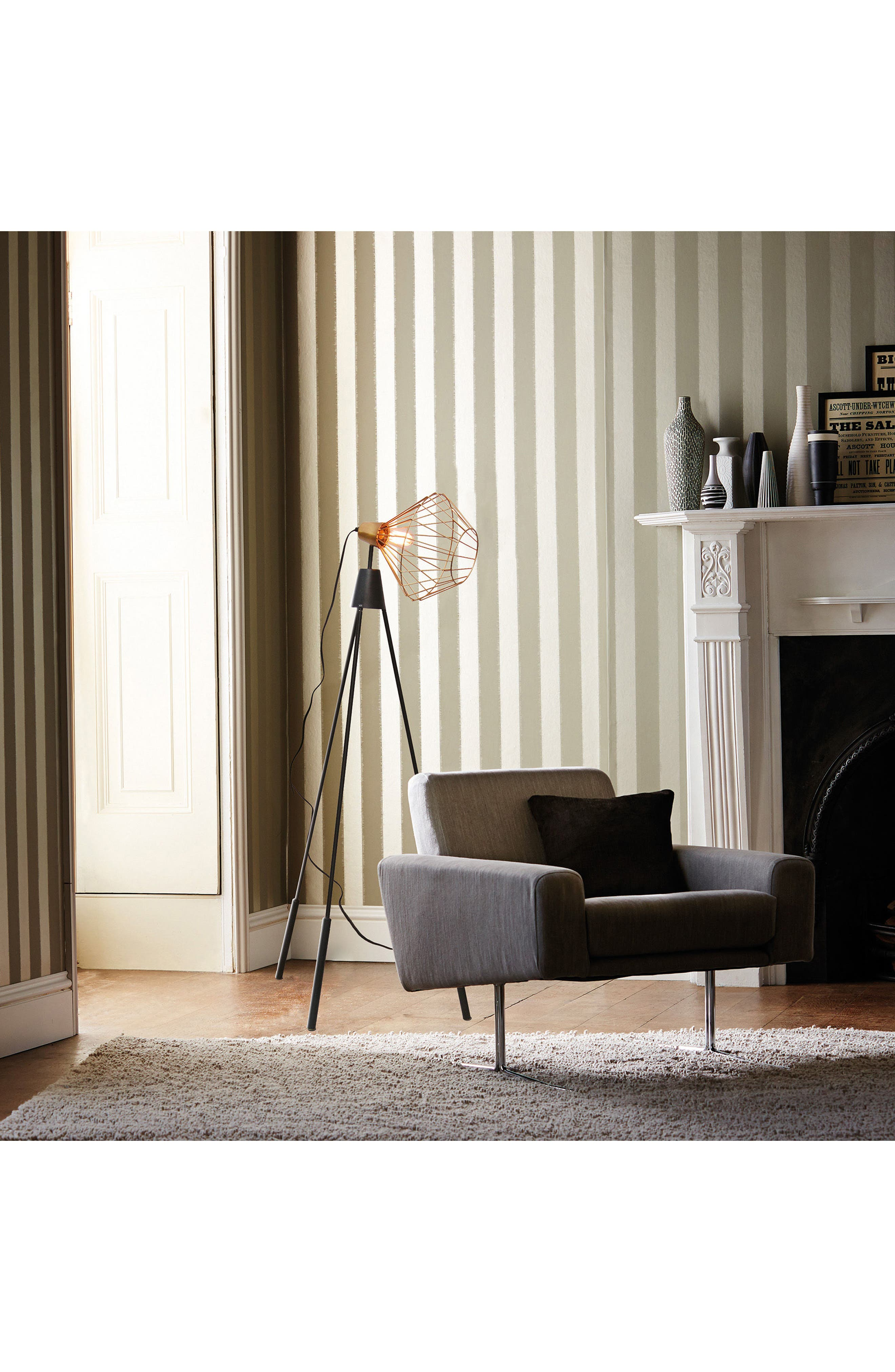 Elington Floor Lamp,                             Alternate thumbnail 2, color,                             BRASS/ BLACK