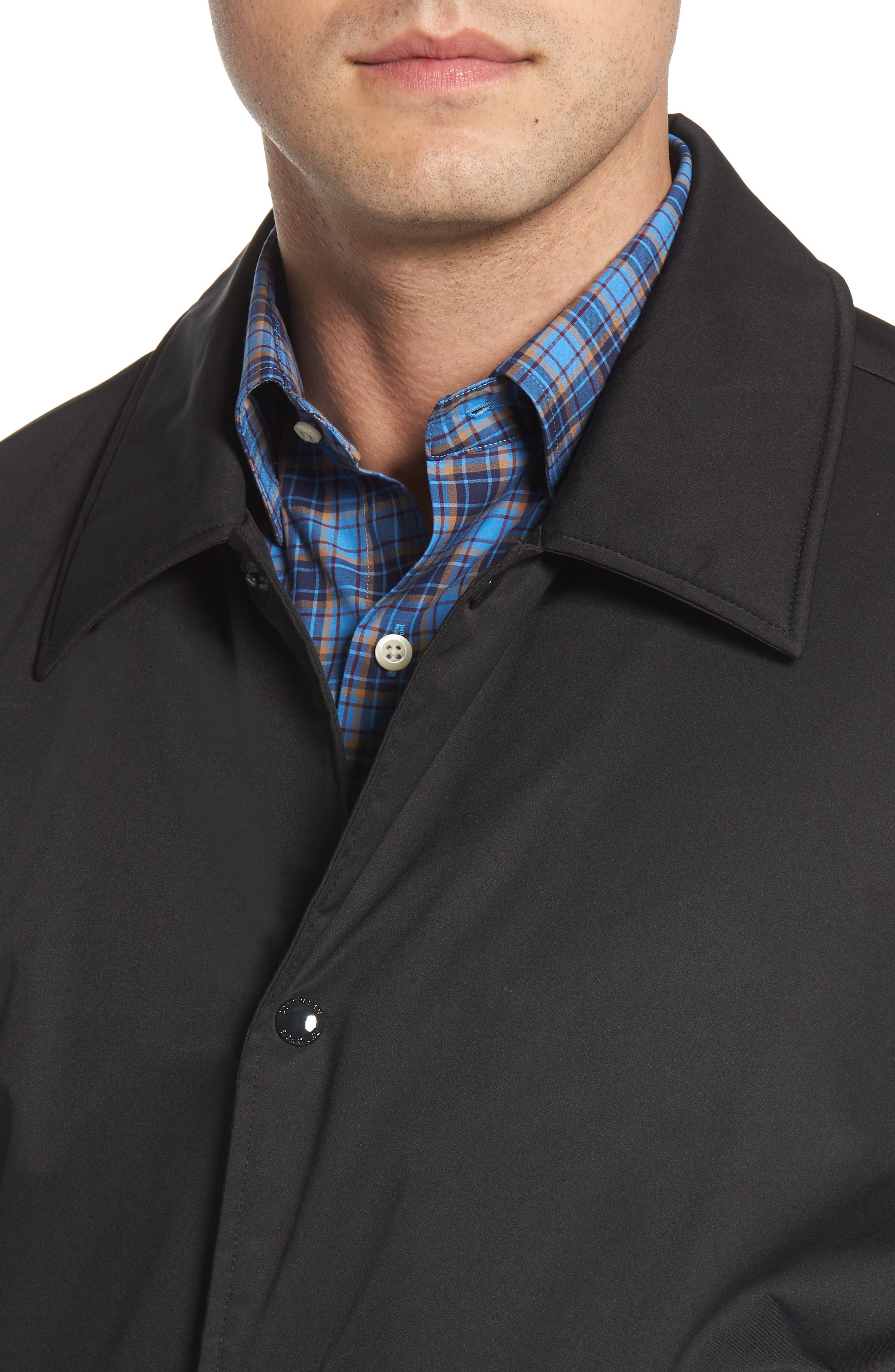 COLE HAAN SIGNATURE,                             Faux Shearling Lined Jacket,                             Alternate thumbnail 4, color,                             001