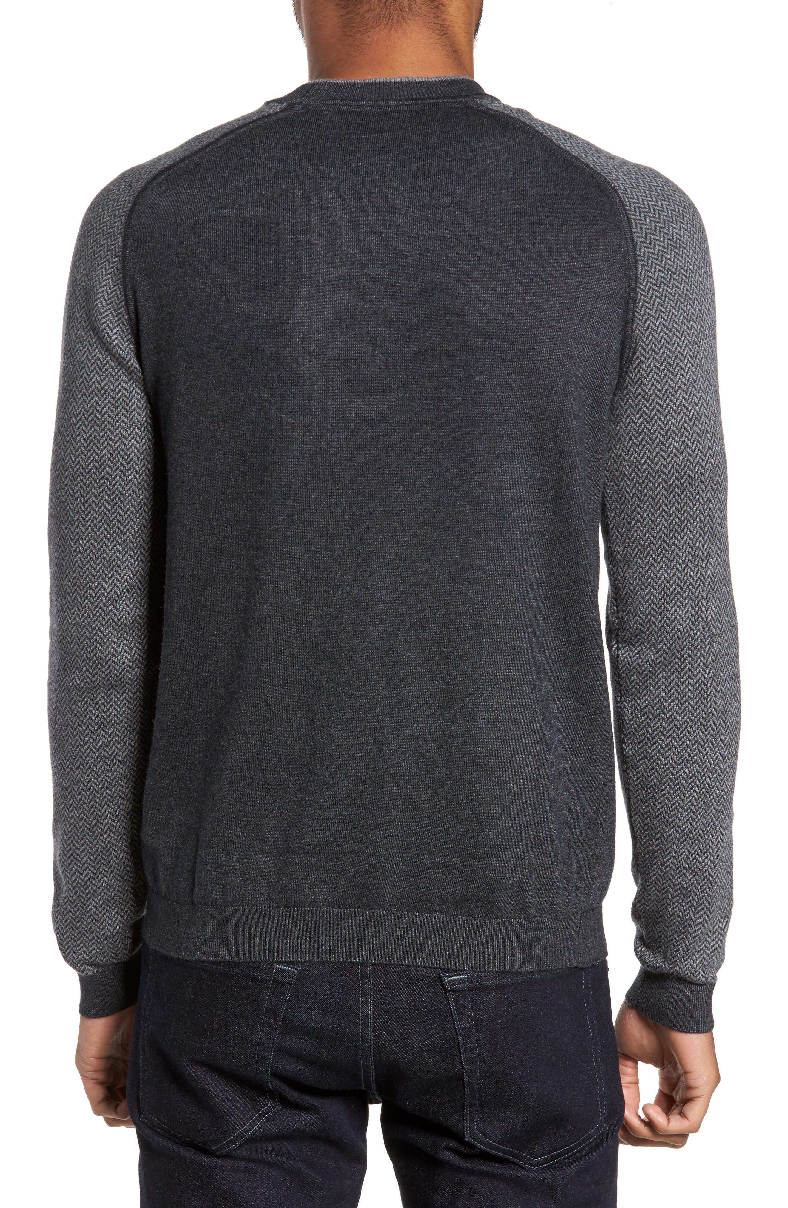 Pepmint Herringbone Sleeve Sweatshirt,                             Alternate thumbnail 3, color,