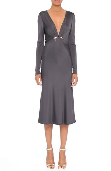 Magdelena Ring Detail Jersey Dress, video thumbnail