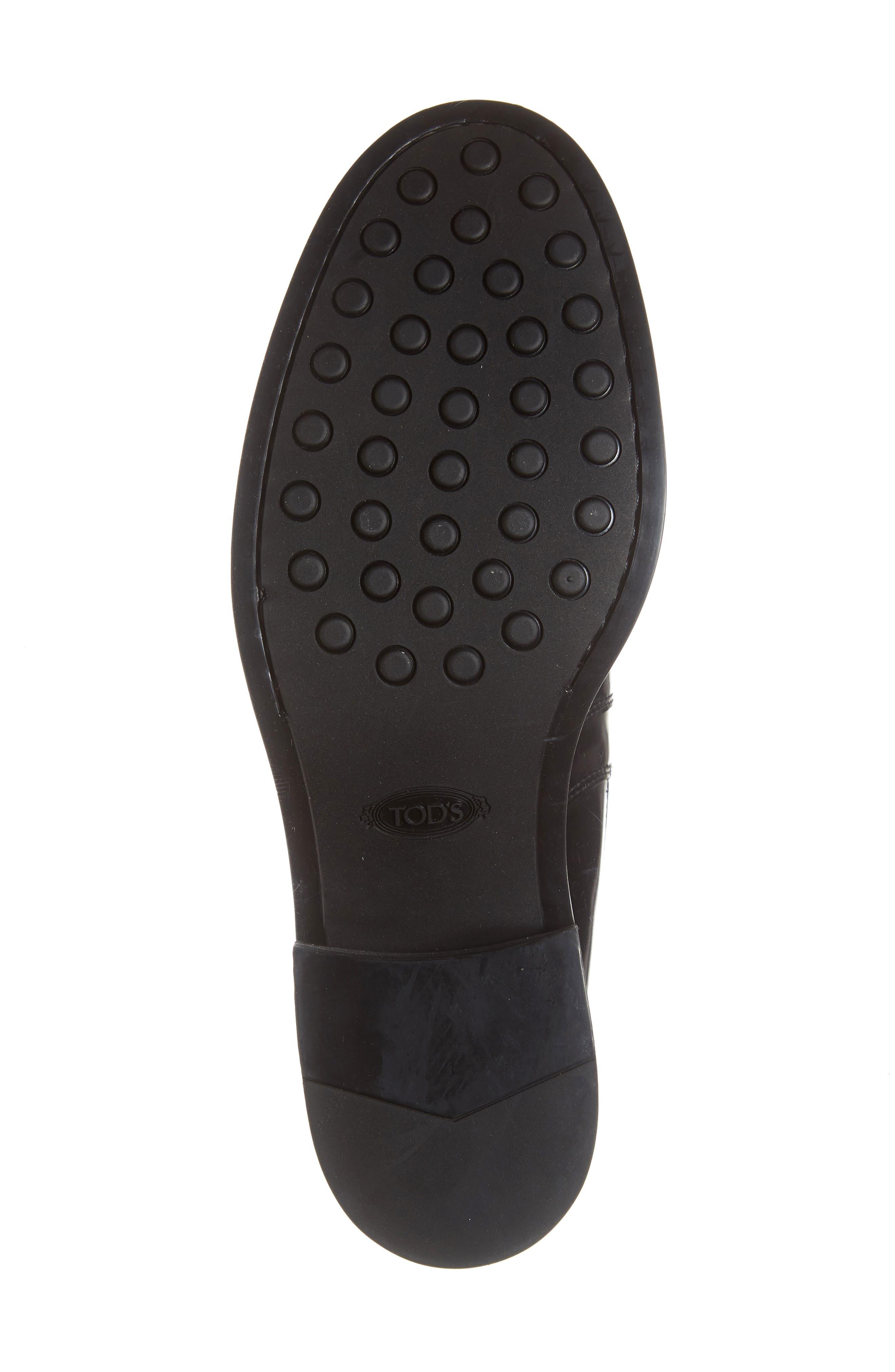 Block Heel Ankle Boot,                             Alternate thumbnail 6, color,                             001