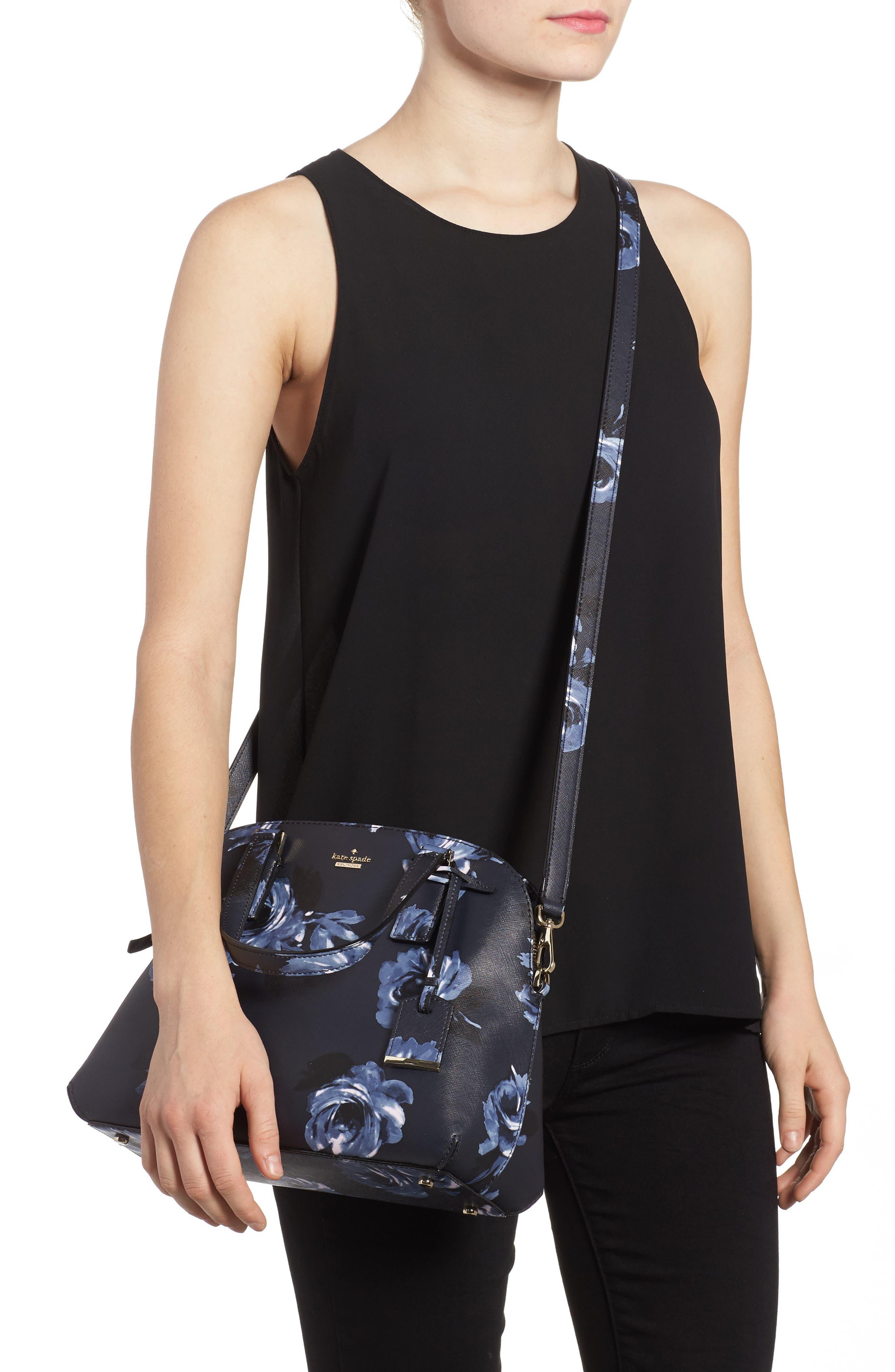 cameron street lottie floral faux leather satchel,                             Alternate thumbnail 2, color,                             458