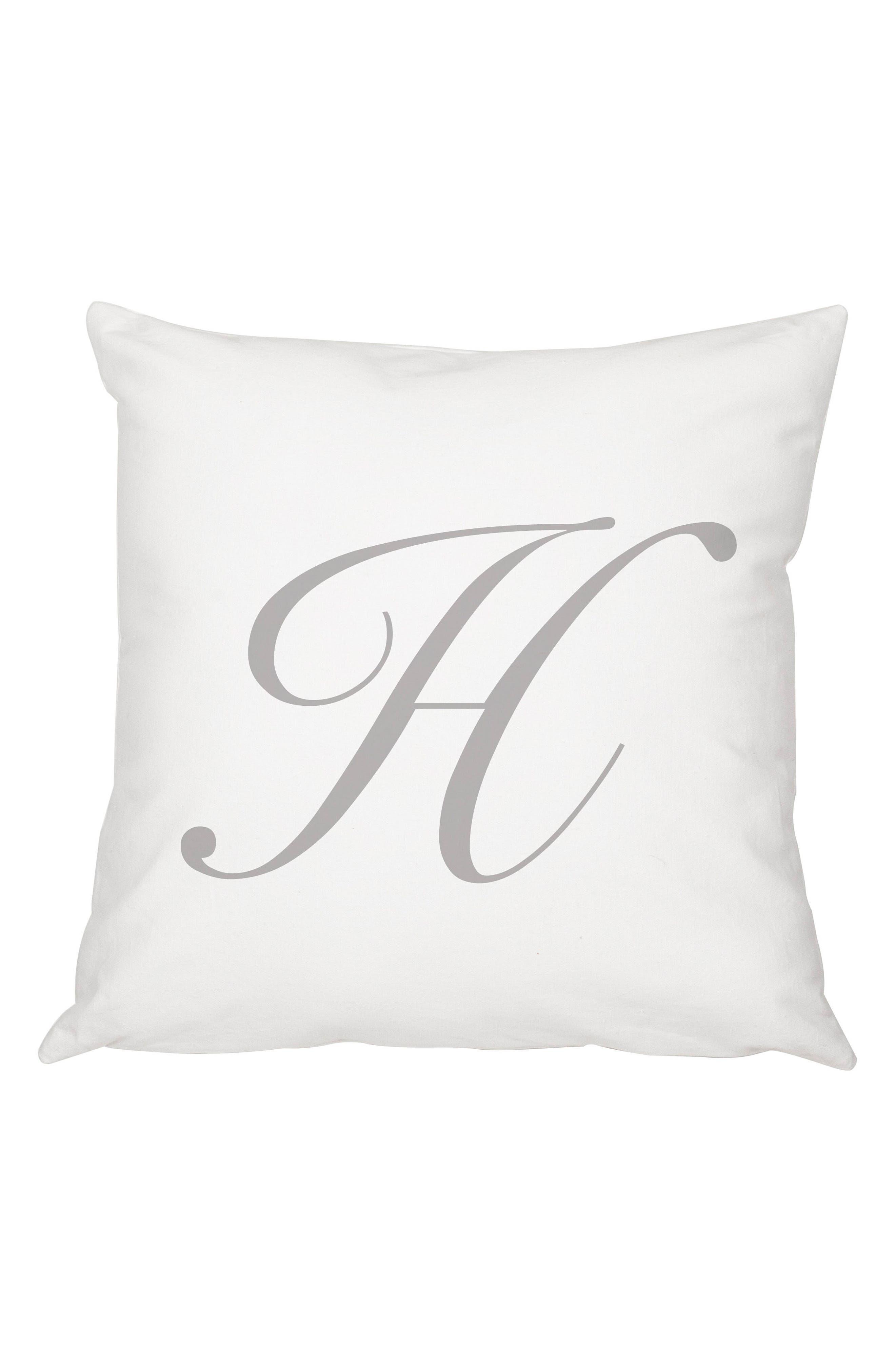 Script Monogram Accent Pillow,                             Main thumbnail 8, color,