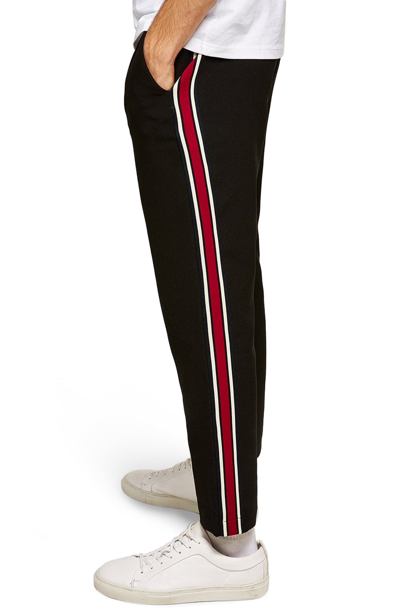 Side Stripe Skinny Fit Joggers,                             Alternate thumbnail 3, color,                             001