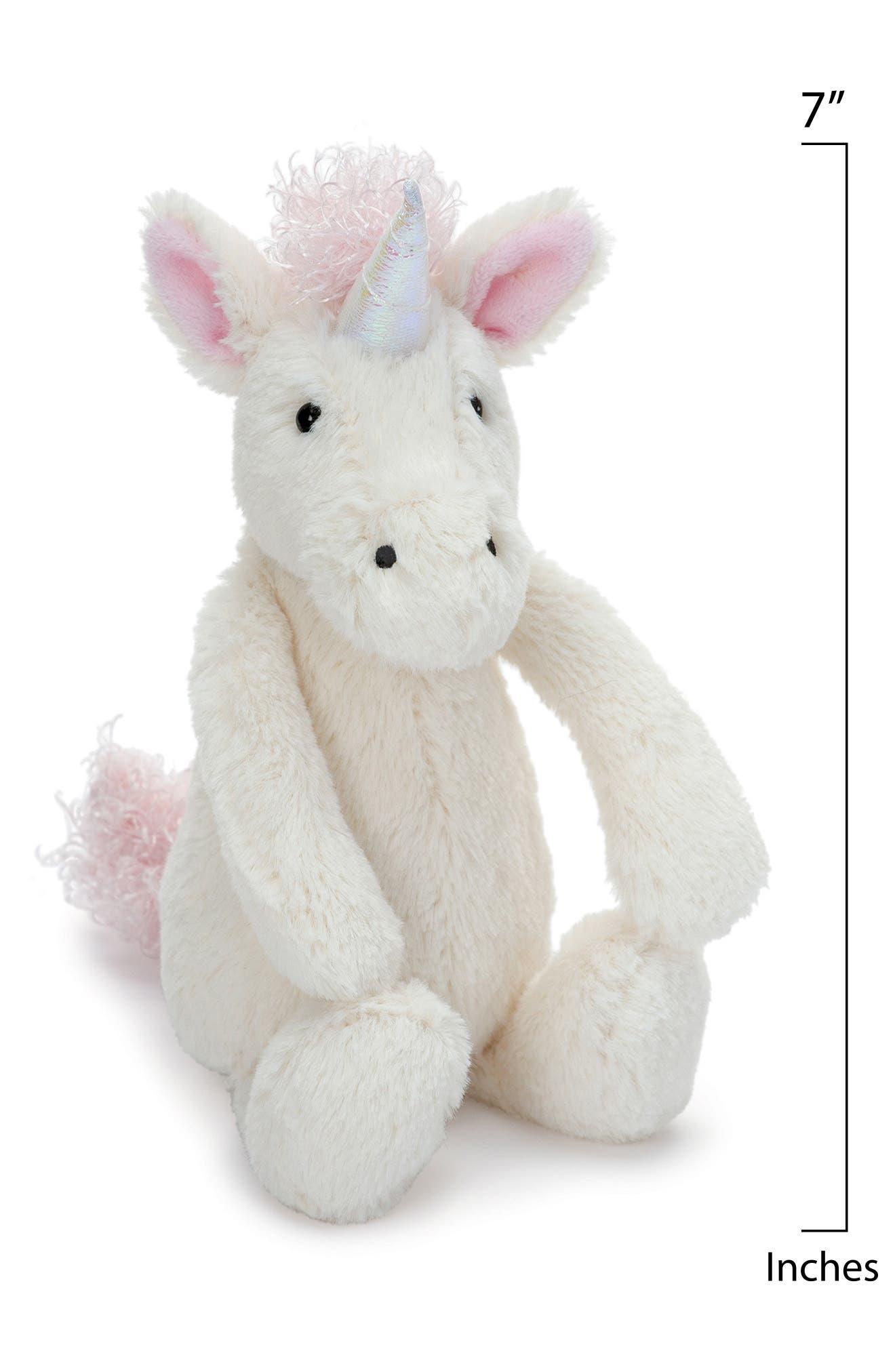 JELLYCAT,                             'Small Bashful Unicorn' Stuffed Animal,                             Alternate thumbnail 2, color,                             CREAM