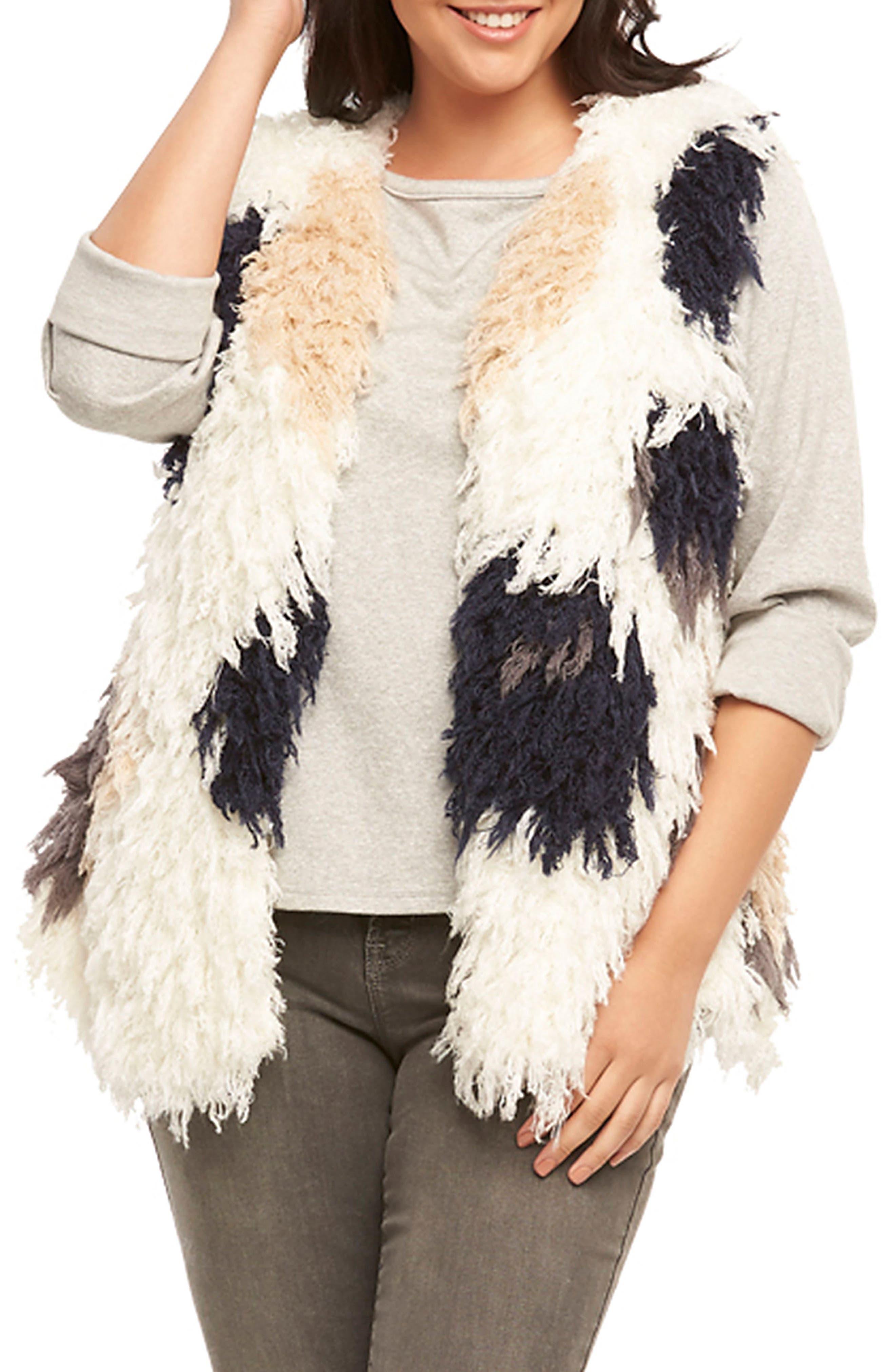 Mave Spot Shaggy Faux Fur Vest,                             Alternate thumbnail 5, color,                             470