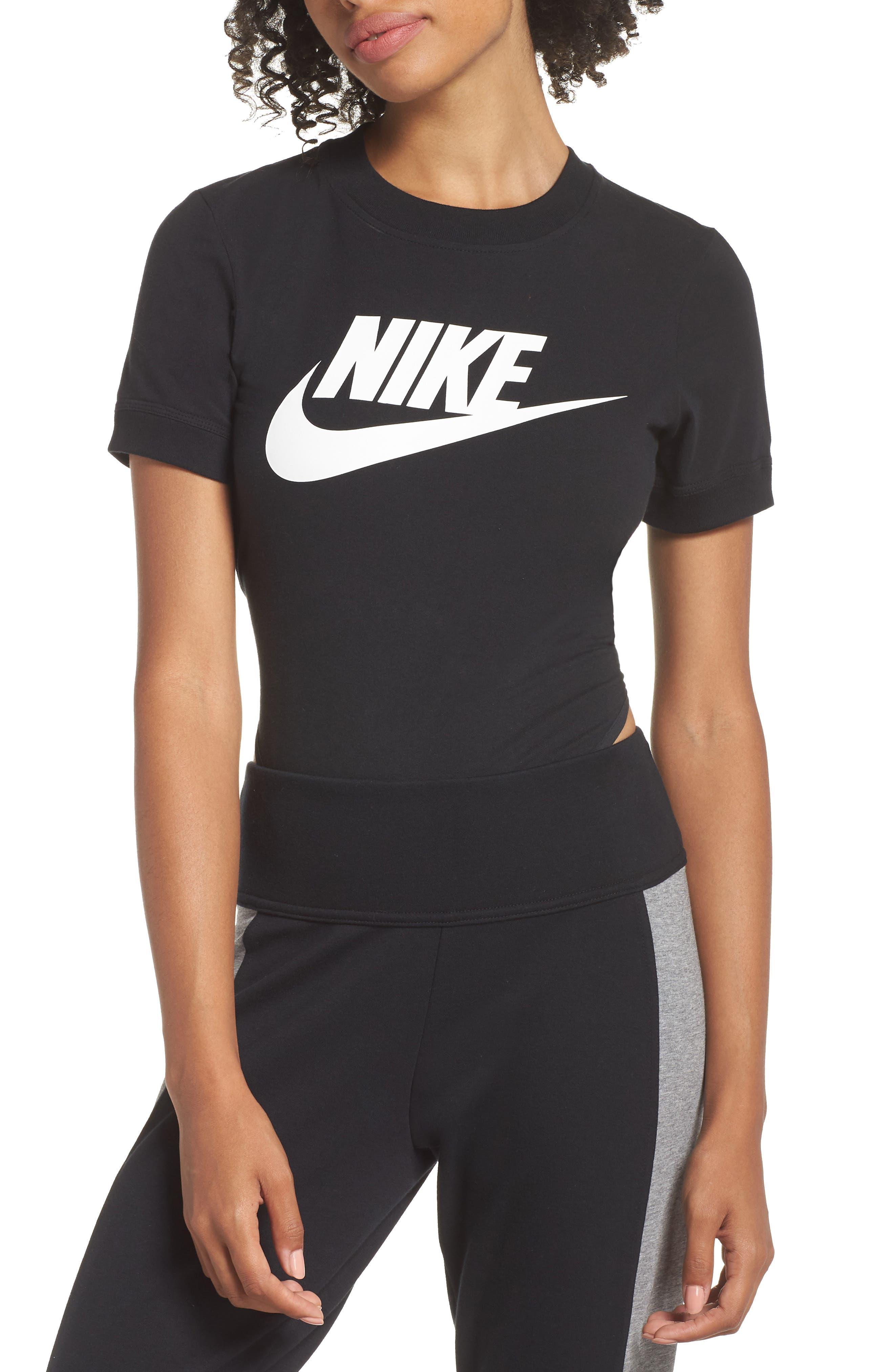 NSW Essential Bodysuit,                             Alternate thumbnail 4, color,                             BLACK/ BLACK/ WHITE