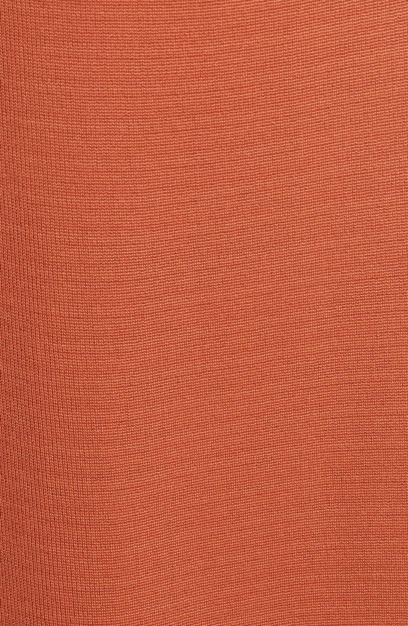 Balloon Sleeve Crepe Knit Midi Dress,                             Alternate thumbnail 5, color,                             620
