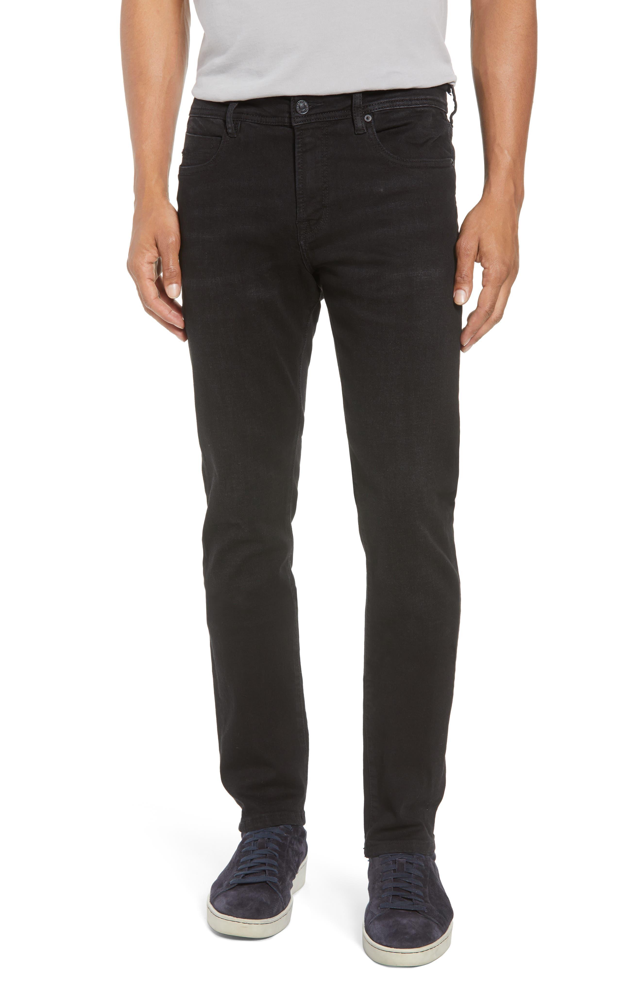 Kingston Slim Straight Leg Jeans,                             Main thumbnail 1, color,                             BULLET DARK