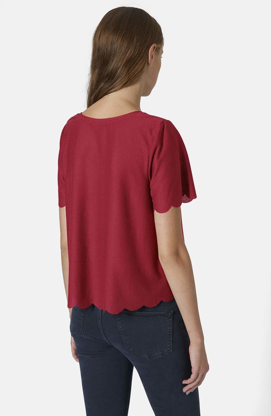 Scallop Frill Tee,                             Alternate thumbnail 39, color,