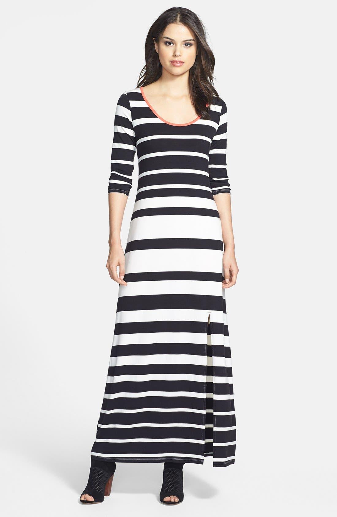 JESSICA SIMPSON,                             'Reah' Stripe Maxi Dress,                             Main thumbnail 1, color,                             001