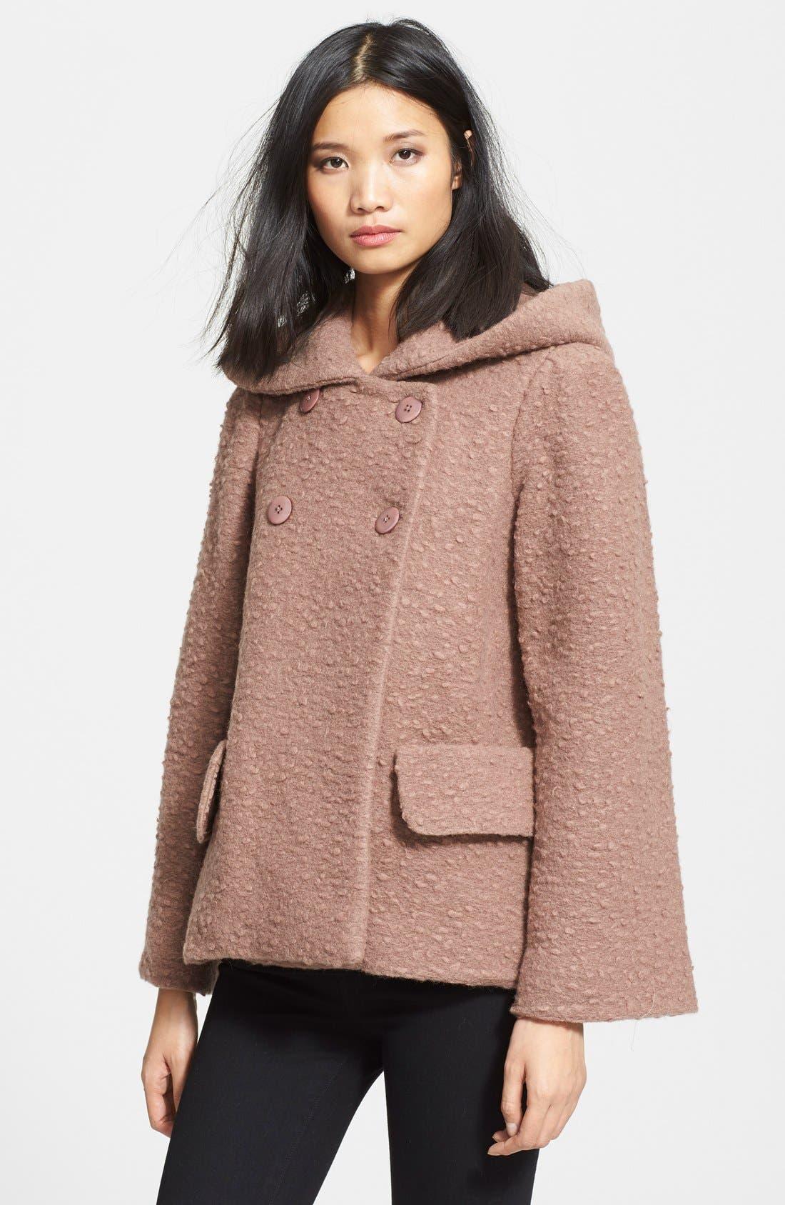 JILL STUART 'Diane' Wool Blend Short Coat, Main, color, 020