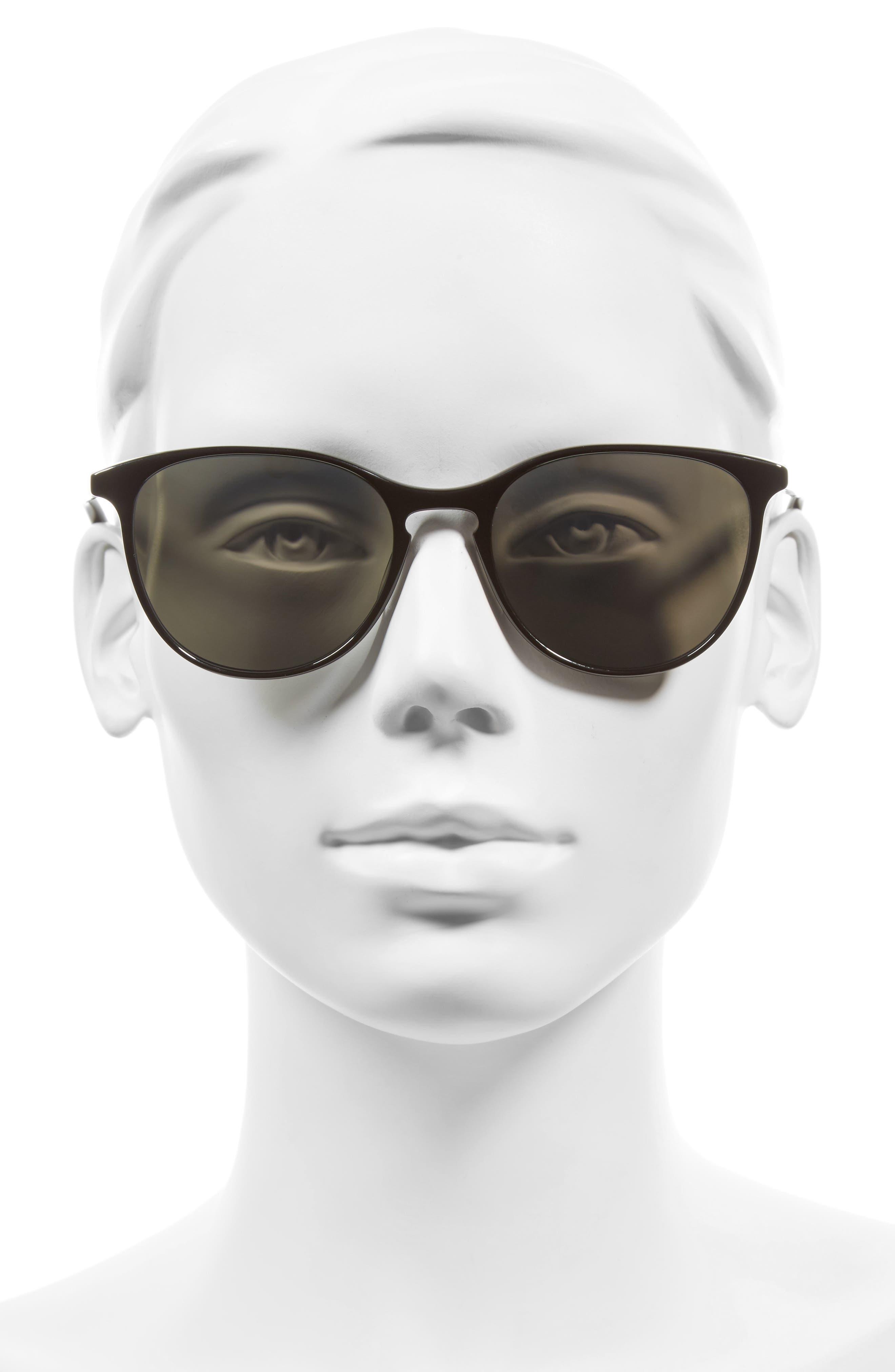 Kiani 53mm Polarized Retro Sunglasses,                             Alternate thumbnail 2, color,                             001