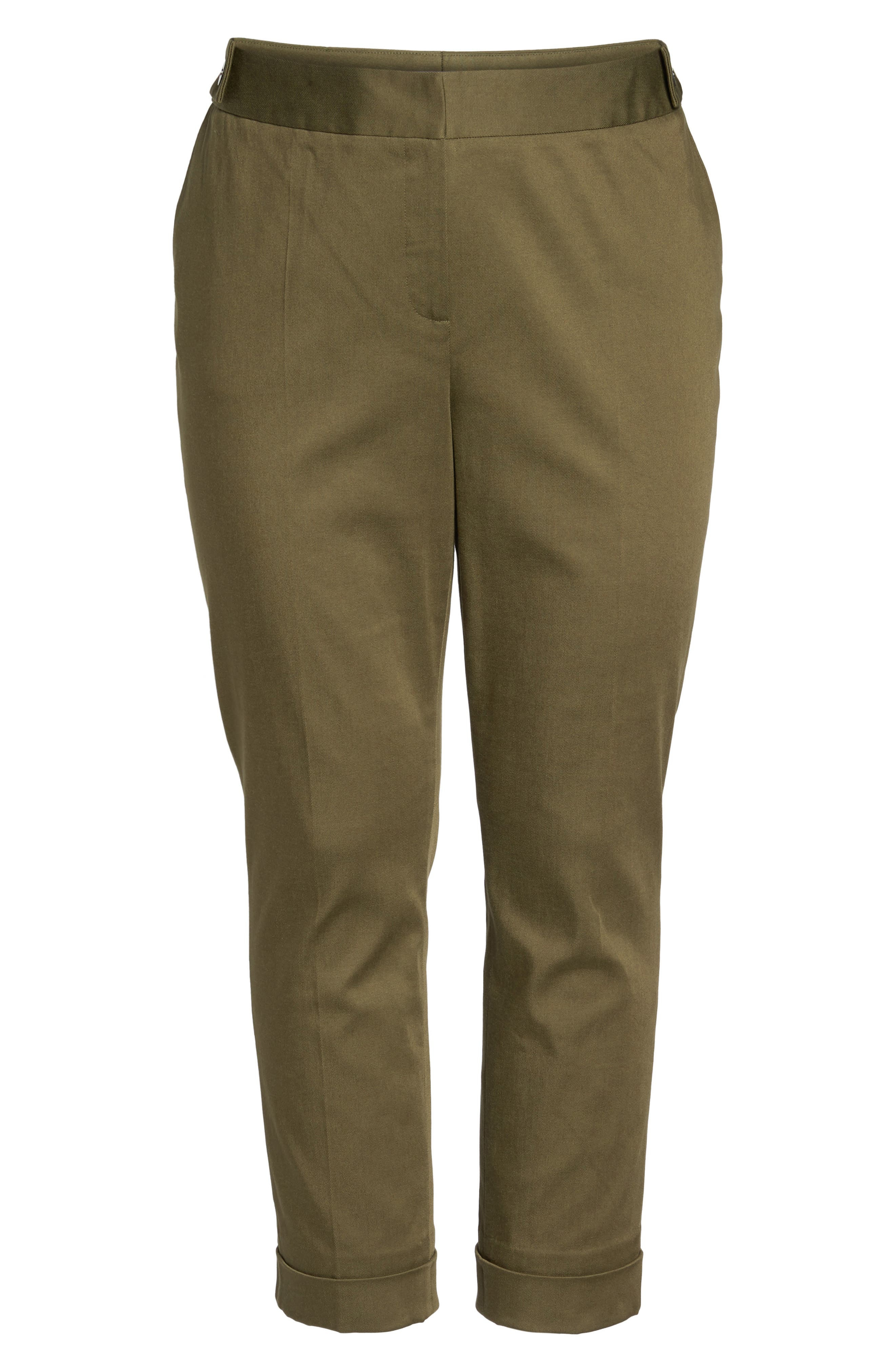 Stretch Twill Ankle Pants,                             Alternate thumbnail 23, color,