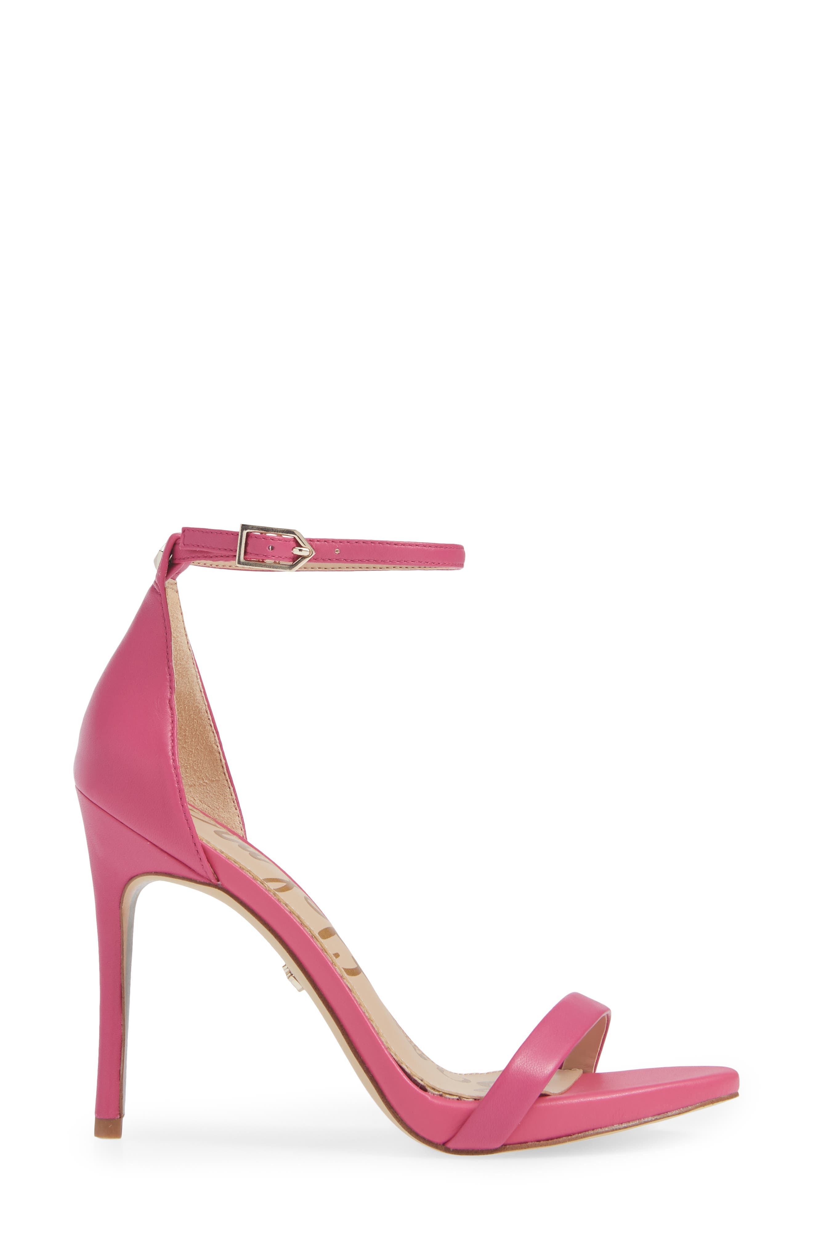 Ariella Ankle Strap Sandal,                             Alternate thumbnail 3, color,                             RETRO PINK LEATHER