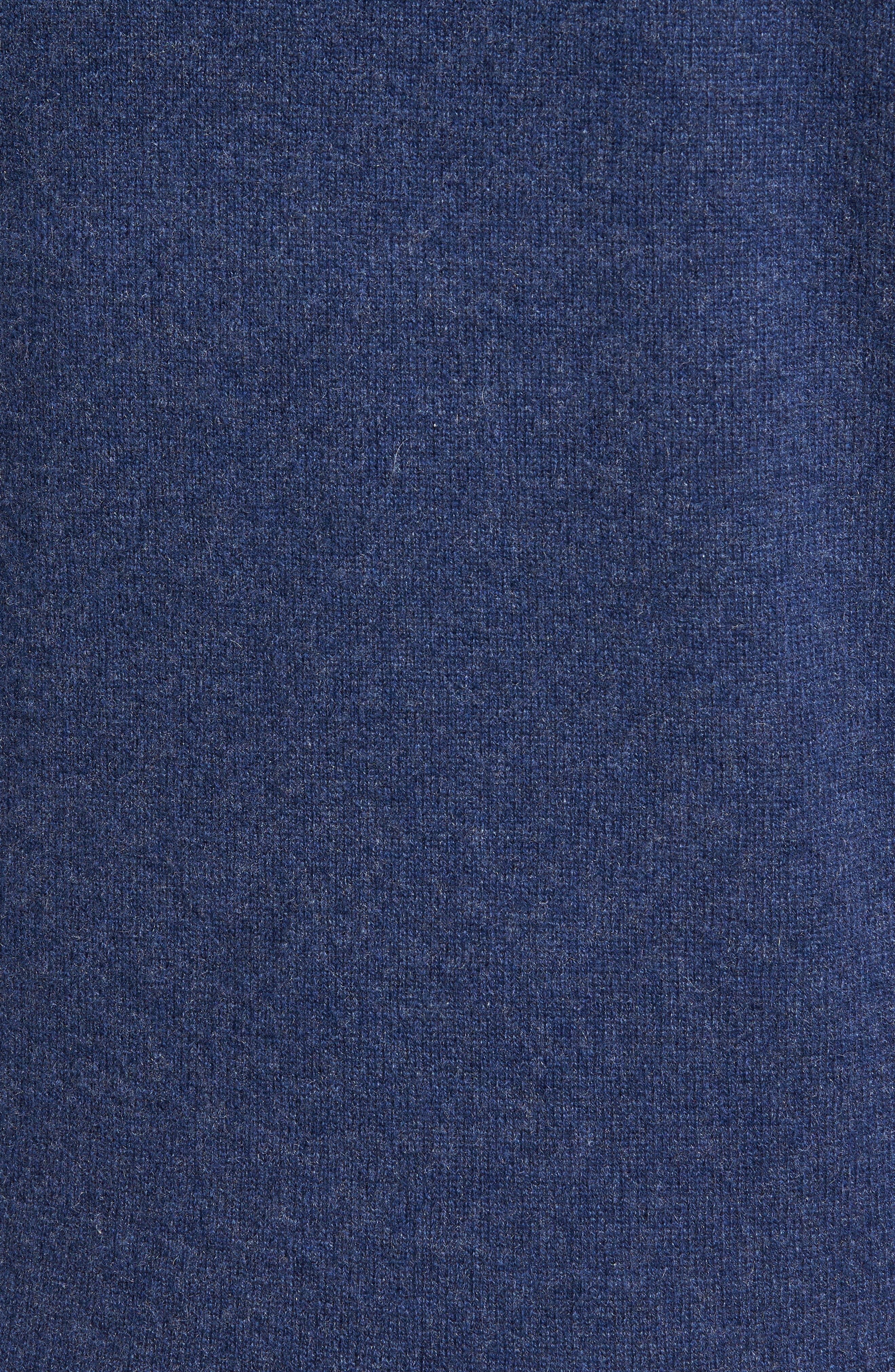 Cashmere V-Neck Sweater,                             Alternate thumbnail 5, color,                             BLUE ESTATE HEATHER