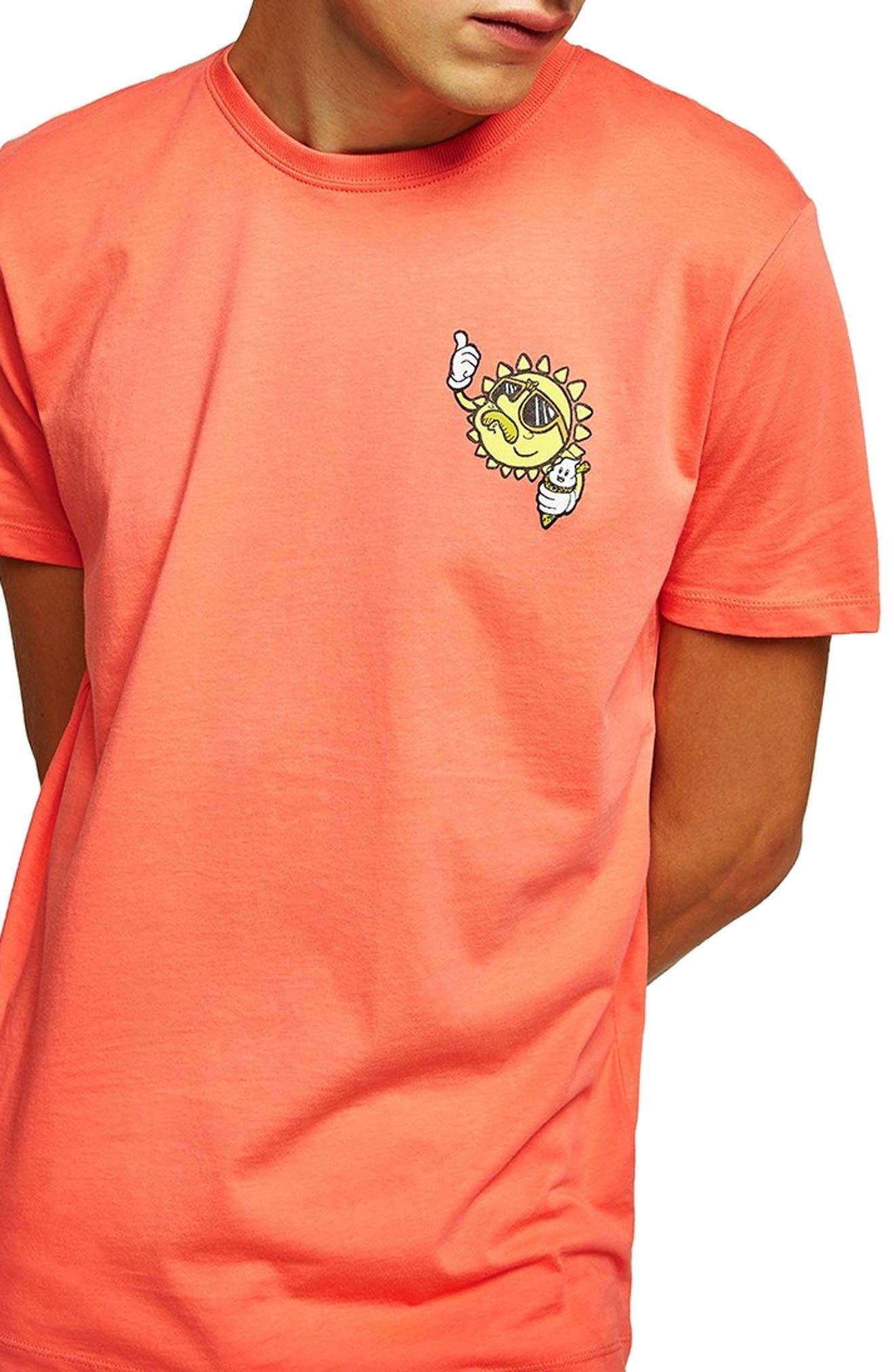 Sun T-Shirt,                         Main,                         color, PINK