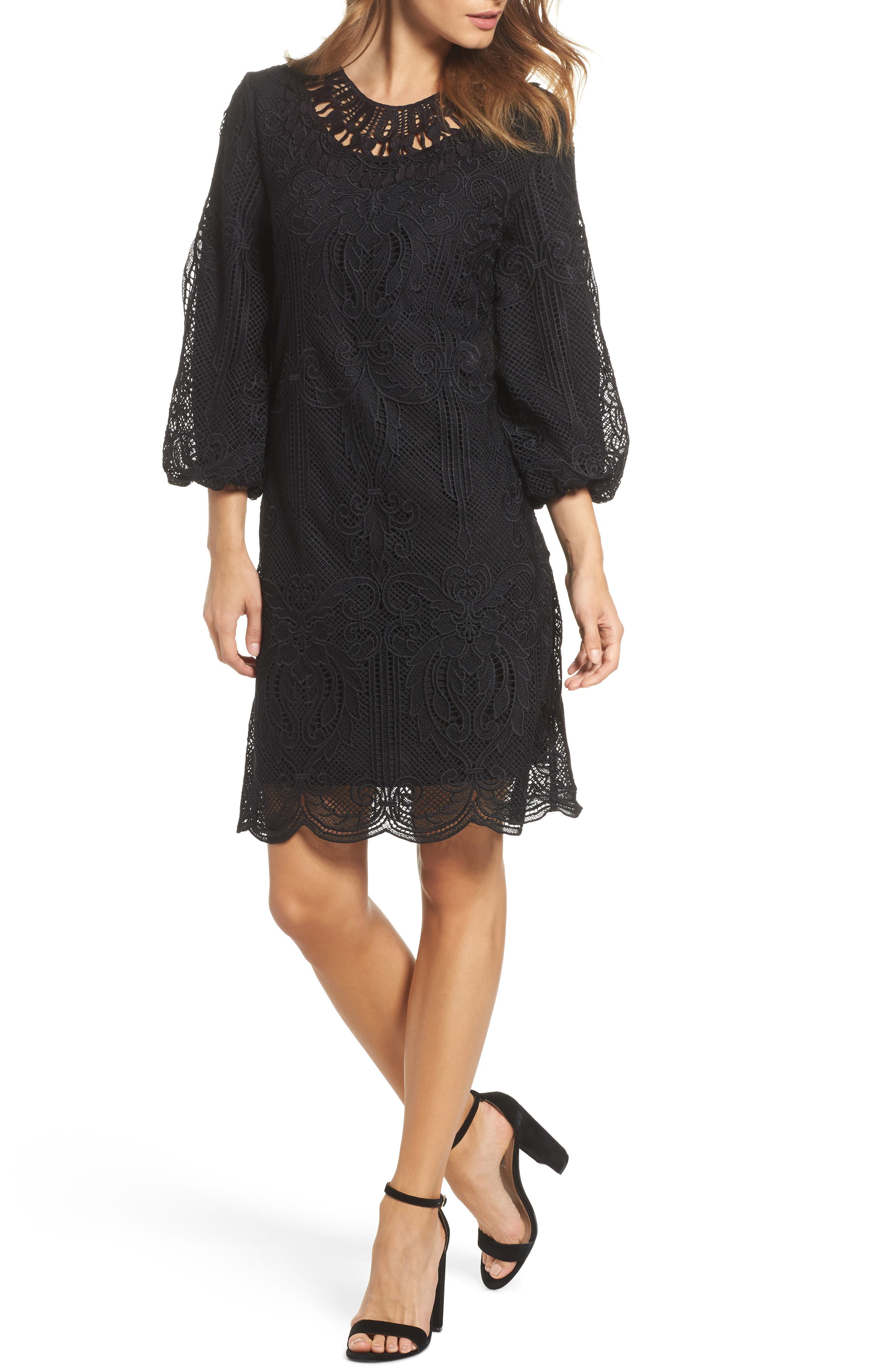 Kandace Lace Shift Dress,                             Main thumbnail 1, color,