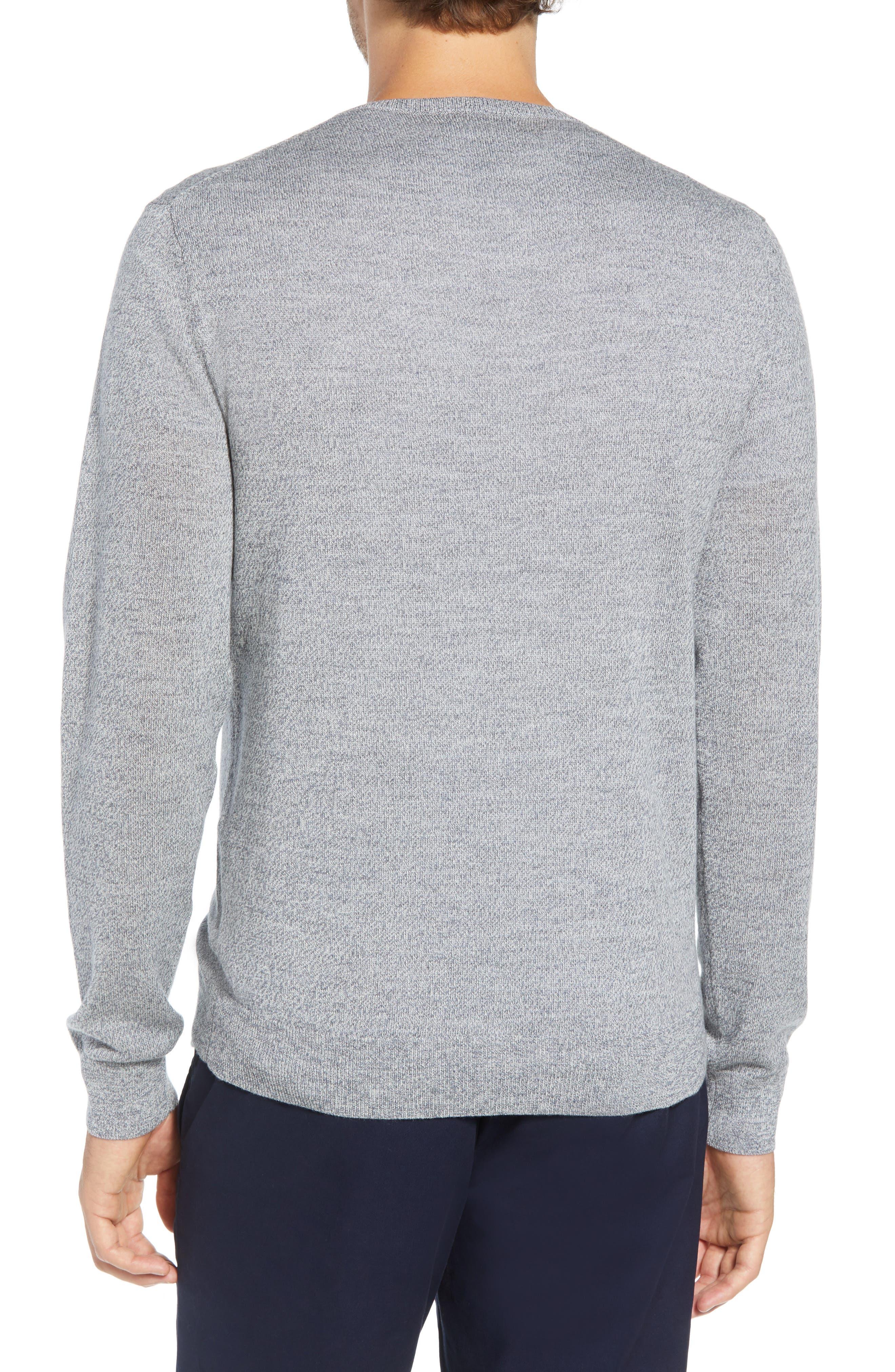Slim Fit V-Neck Merino Wool Sweater,                             Alternate thumbnail 2, color,                             020